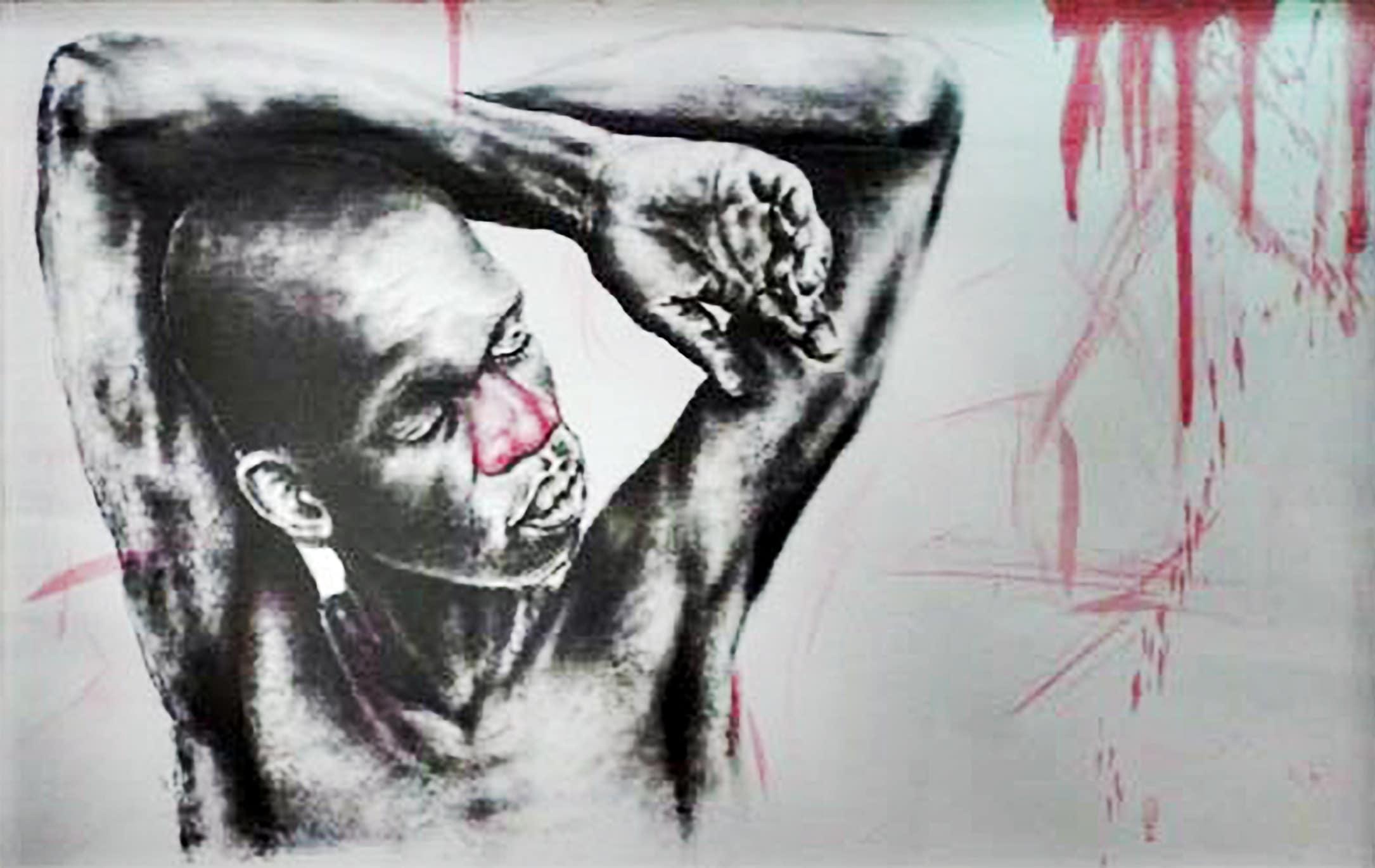 <span class=&#34;link fancybox-details-link&#34;><a href=&#34;/artists/89-mlamuli-mkhwanazi/works/3154-mlamuli-mkhwanazi-isithunywa-sendlozi-2015/&#34;>View Detail Page</a></span><div class=&#34;artist&#34;><strong>Mlamuli Mkhwanazi</strong></div> <div class=&#34;title&#34;><em>Isithunywa Sendlozi</em>, 2015</div> <div class=&#34;medium&#34;>Charcoal & Ink On Paper</div> <div class=&#34;dimensions&#34;>83cm x 121cm</div><div class=&#34;price&#34;>R11,800.00</div>