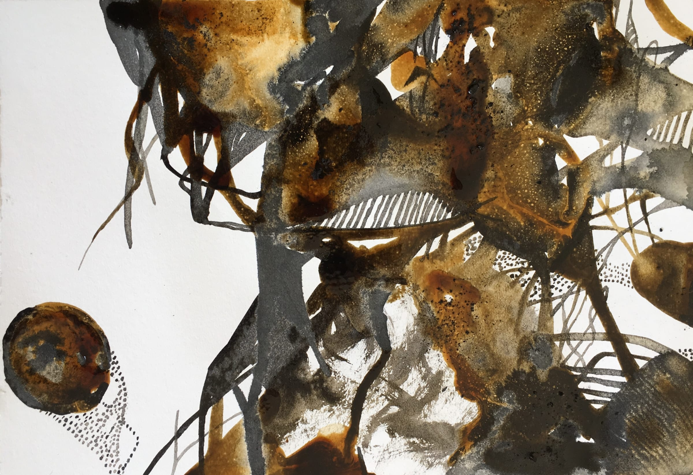 <span class=&#34;link fancybox-details-link&#34;><a href=&#34;/artists/51-kyra-pape/works/2763-kyra-pape-experimentation-series-1-inkt1825-2018/&#34;>View Detail Page</a></span><div class=&#34;artist&#34;><strong>Kyra Pape</strong></div> <div class=&#34;title&#34;><em>Experimentation Series 1: Inkt1825</em>, 2018</div> <div class=&#34;medium&#34;>Ink & Melted Sugar On Paper</div> <div class=&#34;dimensions&#34;>14.8cm x 21cm</div><div class=&#34;price&#34;>R400.00</div>