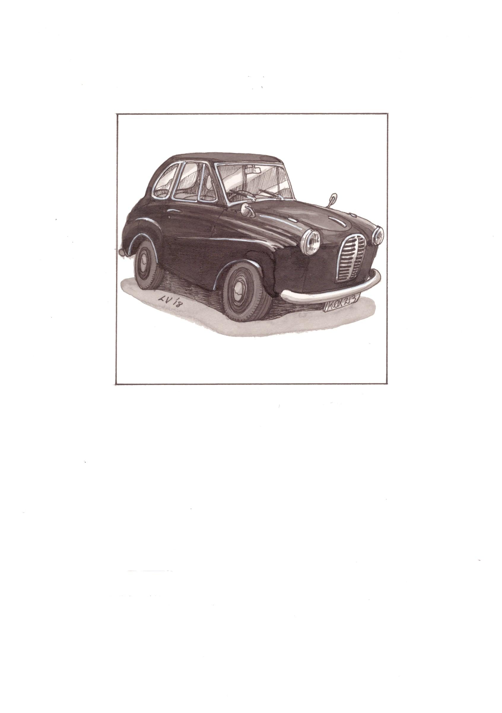 <span class=&#34;link fancybox-details-link&#34;><a href=&#34;/artists/71-leonora-venter/works/2255-leonora-venter-austin-a30-1953-2018/&#34;>View Detail Page</a></span><div class=&#34;artist&#34;><strong>Leonora Venter</strong></div> <div class=&#34;title&#34;><em>Austin A30 1953</em>, 2018</div> <div class=&#34;medium&#34;>Coloured Ink On Paper</div> <div class=&#34;dimensions&#34;>14.5cm x 10.5cm</div><div class=&#34;price&#34;>R600.00</div>