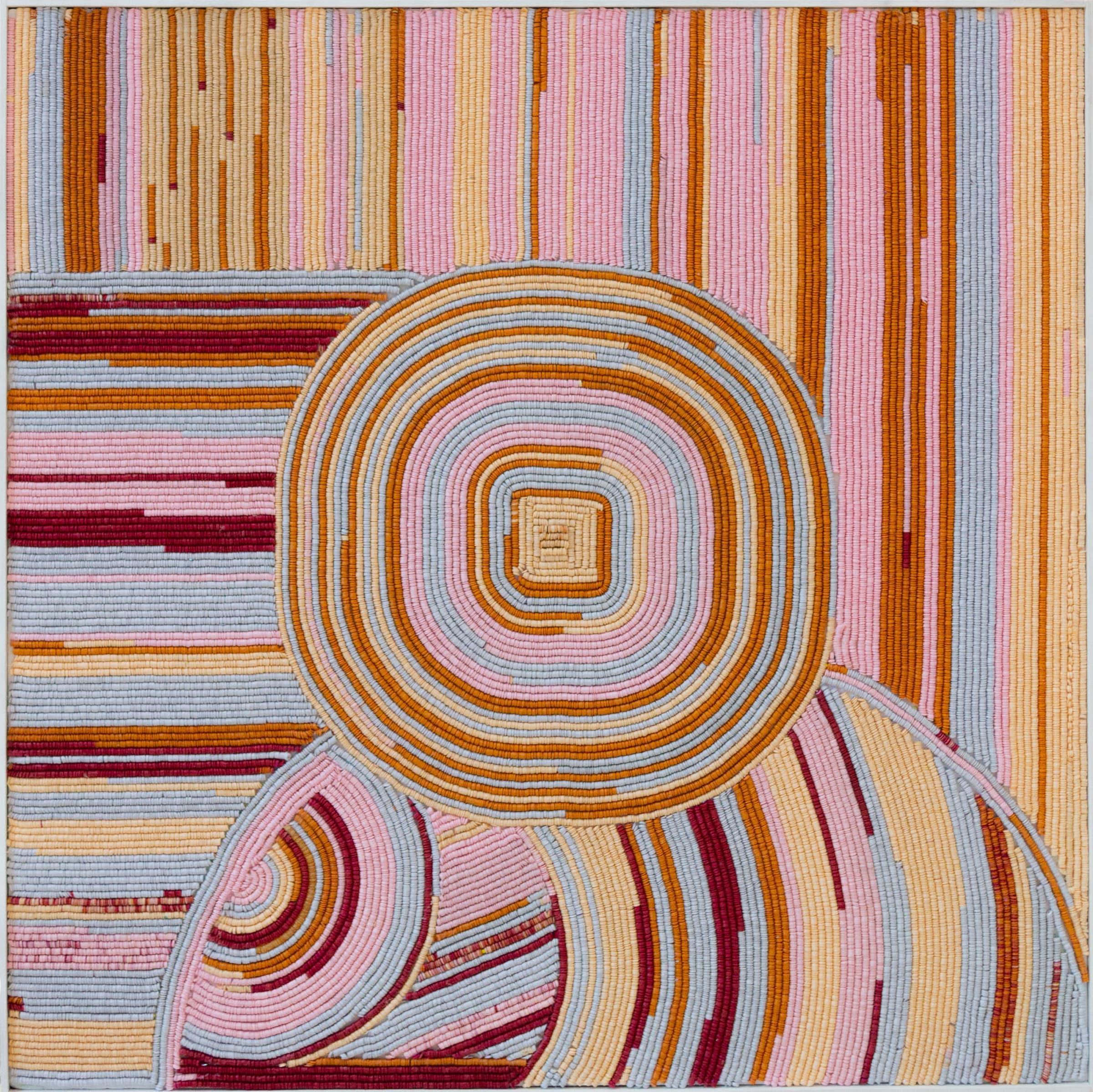 <span class=&#34;link fancybox-details-link&#34;><a href=&#34;/artists/85-leanne-shakenovsky/works/3124-leanne-shakenovsky-frame-i-2017/&#34;>View Detail Page</a></span><div class=&#34;artist&#34;><strong>Leanne Shakenovsky</strong></div> <div class=&#34;title&#34;><em>Frame I</em>, 2017</div> <div class=&#34;medium&#34;>Sequins, Fishing Line & Wood Glue</div> <div class=&#34;dimensions&#34;>100cm x 100cm</div><div class=&#34;price&#34;>R28,000.00</div>