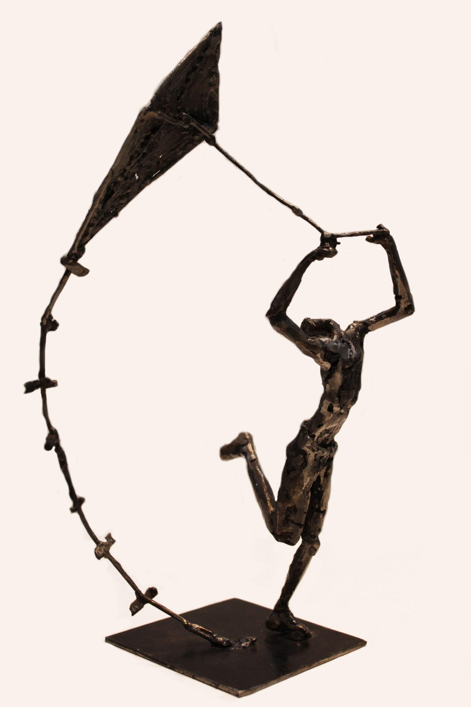 <span class=&#34;link fancybox-details-link&#34;><a href=&#34;/artists/31-gert-potgieter/works/2880-gert-potgieter-kite-runner-2015/&#34;>View Detail Page</a></span><div class=&#34;artist&#34;><strong>Gert Potgieter</strong></div> <div class=&#34;title&#34;><em>Kite Runner</em>, 2015</div> <div class=&#34;medium&#34;>Welded Metal Sculpture</div> <div class=&#34;dimensions&#34;>15cm x 35cm x 15cm</div>