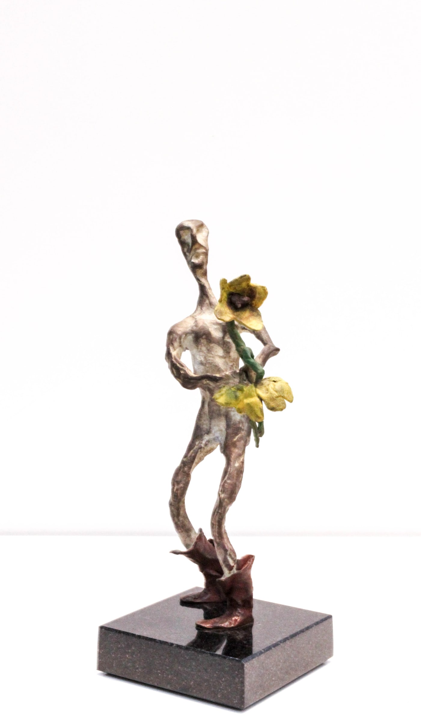 <span class=&#34;link fancybox-details-link&#34;><a href=&#34;/artists/82-jaco-kruger/works/1549-jaco-kruger-stolen-flowers-mini/&#34;>View Detail Page</a></span><div class=&#34;artist&#34;><strong>Jaco Kruger</strong></div> <div class=&#34;title&#34;><em>Stolen Flowers (Mini)</em></div> <div class=&#34;medium&#34;>Bronze Sculpture</div> <div class=&#34;dimensions&#34;>11.5cm x 26cm x 10</div> <div class=&#34;edition_details&#34;>2/8</div><div class=&#34;price&#34;>R7,600.00</div>