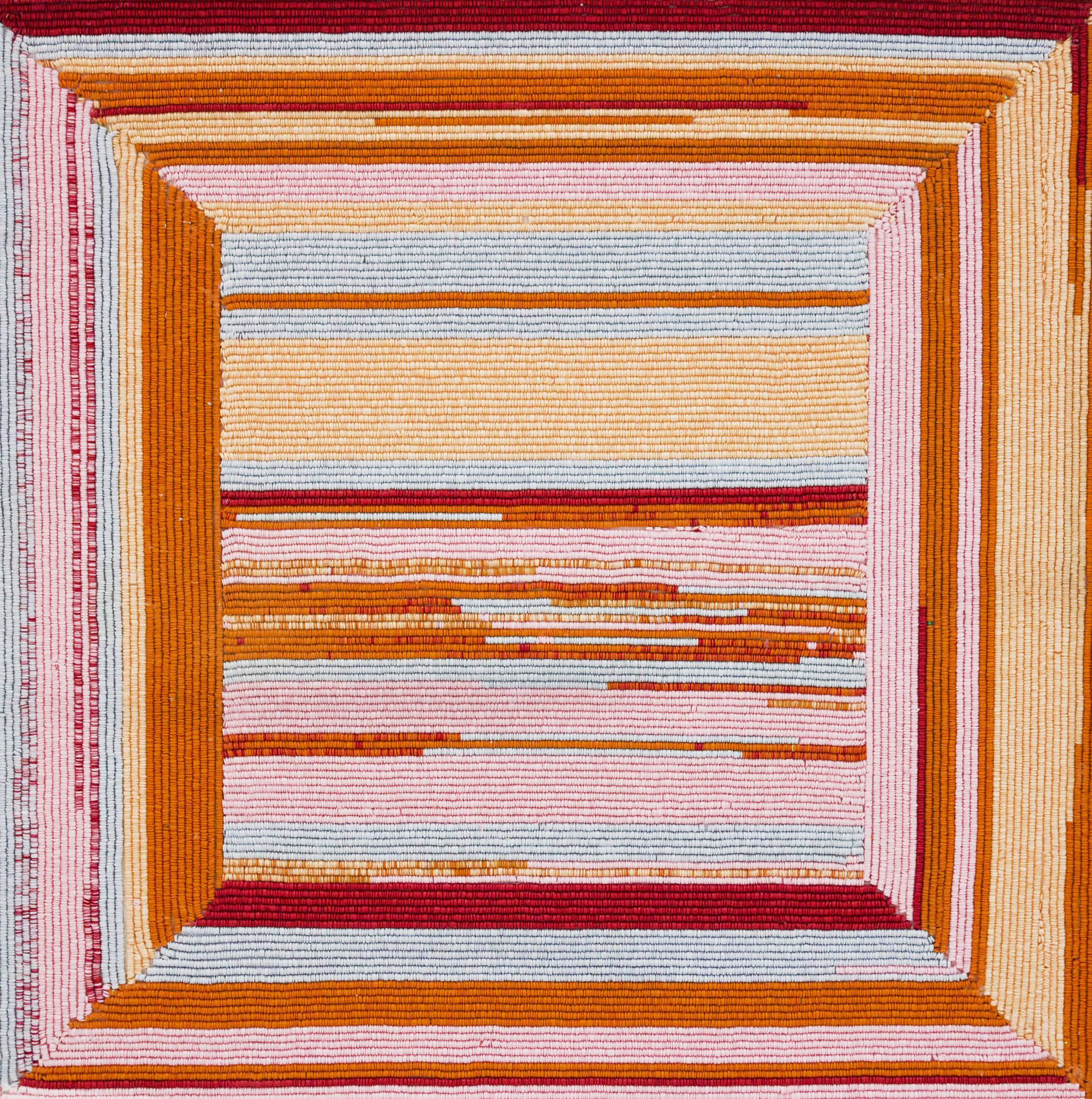<span class=&#34;link fancybox-details-link&#34;><a href=&#34;/artists/85-leanne-shakenovsky/works/3125-leanne-shakenovsky-frame-ii-2017/&#34;>View Detail Page</a></span><div class=&#34;artist&#34;><strong>Leanne Shakenovsky</strong></div> <div class=&#34;title&#34;><em>Frame II</em>, 2017</div> <div class=&#34;medium&#34;>Sequins, Fishing Line & Wood Glue</div> <div class=&#34;dimensions&#34;>100cm x 100cm</div><div class=&#34;price&#34;>R28,000.00</div>