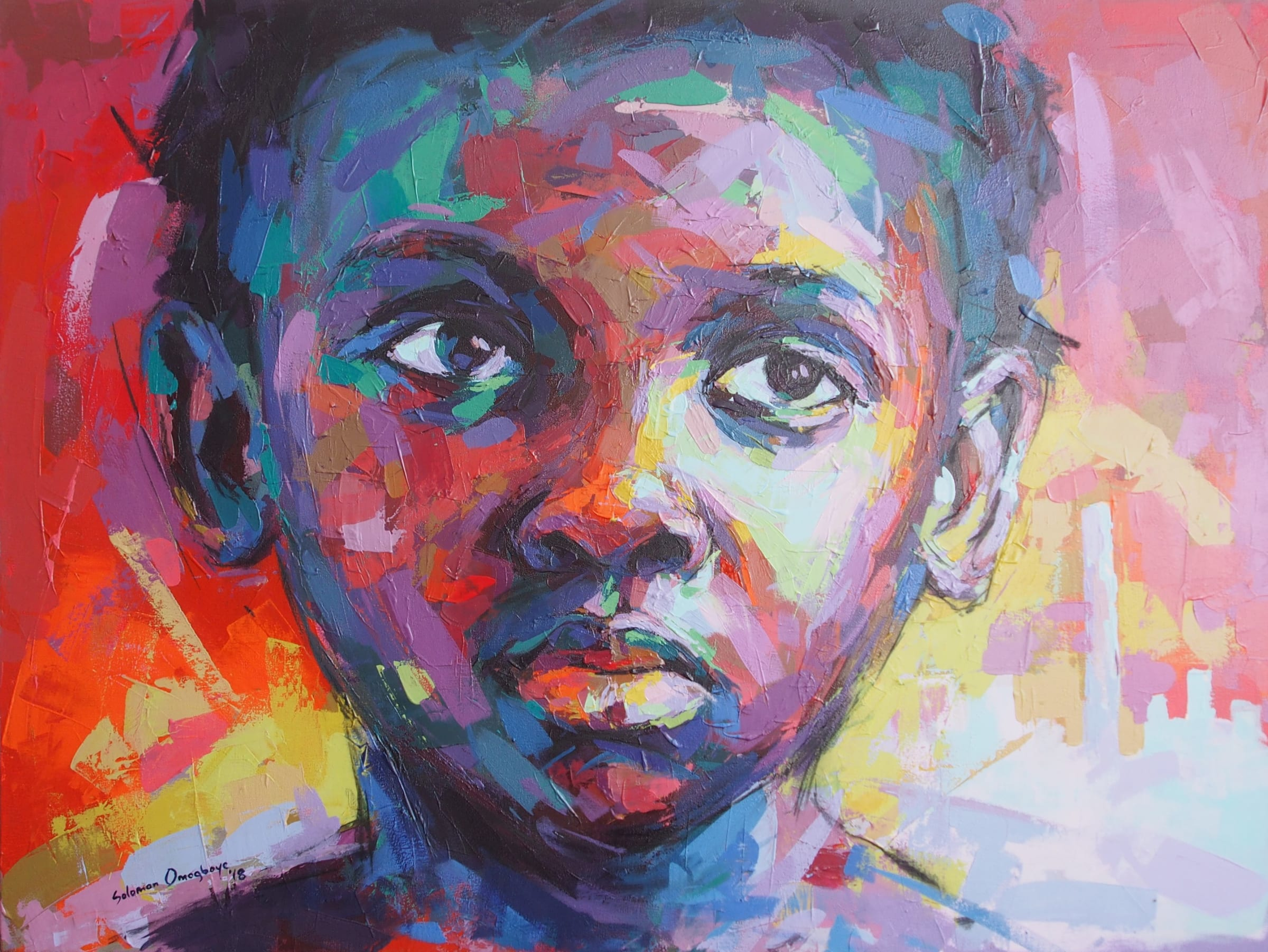 <span class=&#34;link fancybox-details-link&#34;><a href=&#34;/artists/39-solomon-omogboye/works/2016-solomon-omogboye-jozi-girl-2018/&#34;>View Detail Page</a></span><div class=&#34;artist&#34;><strong>Solomon Omogboye</strong></div> <div class=&#34;title&#34;><em>Jozi Girl</em>, 2018</div> <div class=&#34;medium&#34;>Acrylic On Canvas</div> <div class=&#34;dimensions&#34;>122cm x 91.5cm</div>