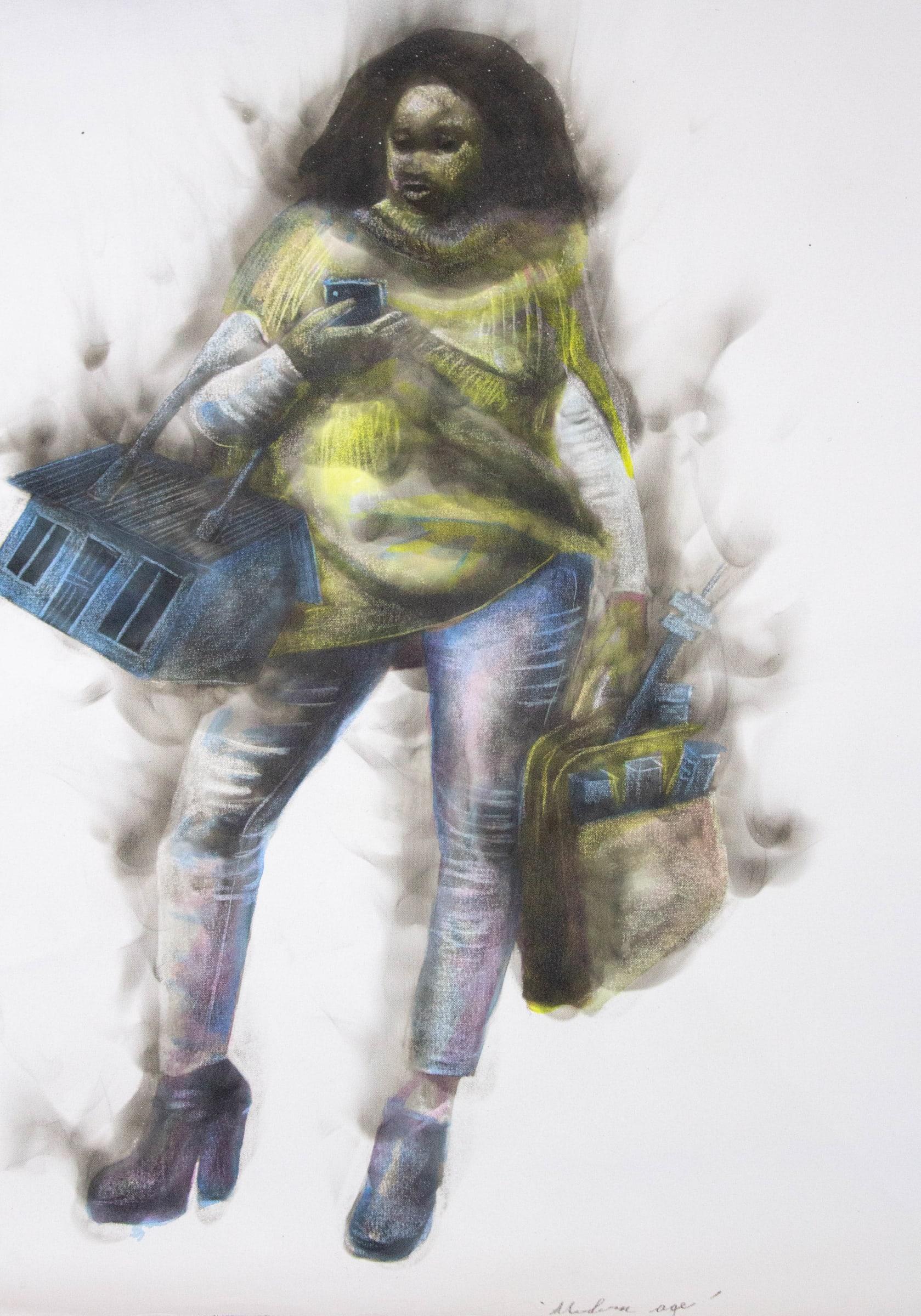 <span class=&#34;link fancybox-details-link&#34;><a href=&#34;/artists/54-azael-langa/works/2138-azael-langa-modern-age-2018/&#34;>View Detail Page</a></span><div class=&#34;artist&#34;><strong>Azael Langa</strong></div> <div class=&#34;title&#34;><em>Modern Age</em>, 2018</div> <div class=&#34;medium&#34;>Smoke And Ink  On Canvas</div> <div class=&#34;dimensions&#34;>100cm x 82cm (117.5cm x 96cm framed)</div>