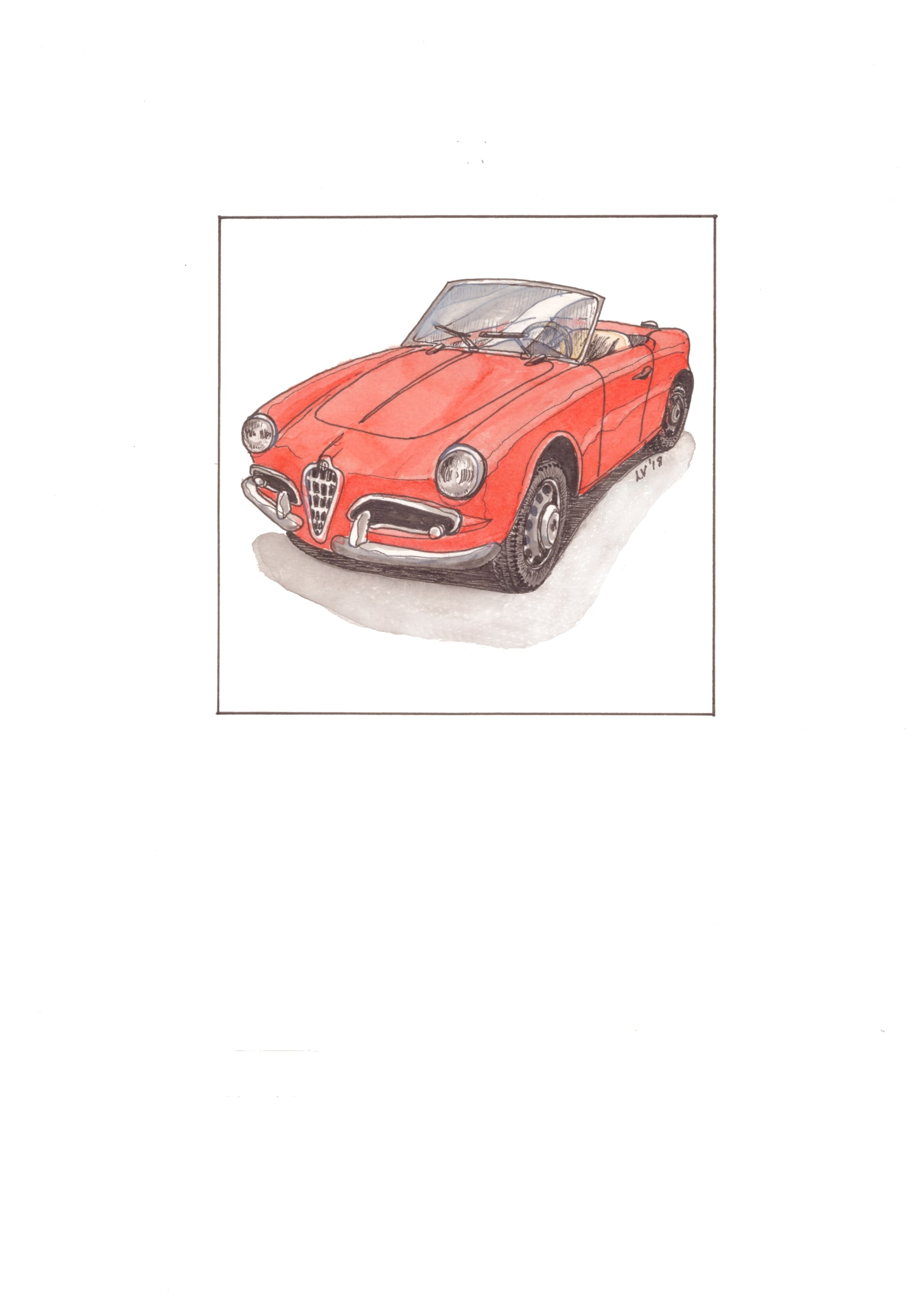 <span class=&#34;link fancybox-details-link&#34;><a href=&#34;/artists/71-leonora-venter/works/2253-leonora-venter-alfa-giulietta-spider-2018/&#34;>View Detail Page</a></span><div class=&#34;artist&#34;><strong>Leonora Venter</strong></div> <div class=&#34;title&#34;><em>Alfa Giulietta Spider</em>, 2018</div> <div class=&#34;medium&#34;>Coloured Ink On Paper</div> <div class=&#34;dimensions&#34;>14.5cm x 10.5cm</div><div class=&#34;price&#34;>R600.00</div>