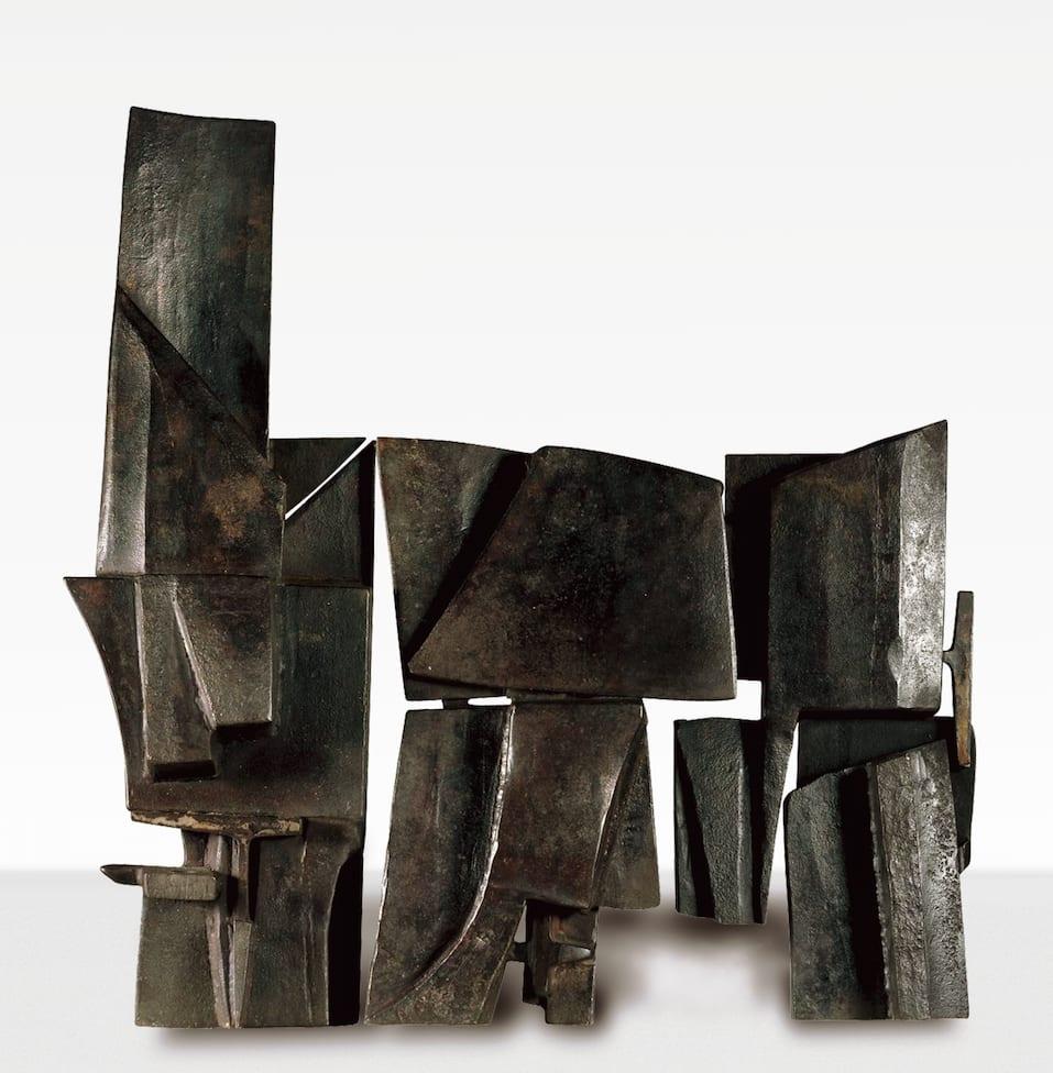 "<span class=""link fancybox-details-link""><a href=""/artists/60-miguel-ortiz-berrocal/works/476-miguel-ortiz-berrocal-opus-20-roma-1958/"">View Detail Page</a></span><div class=""artist""><strong>Miguel Ortiz Berrocal</strong></div> <div class=""title""><em>Opus 20 Roma</em>, 1958</div> <div class=""medium"">ferro forgiato e saldato</div> <div class=""dimensions"">cm 75x74x16</div>"