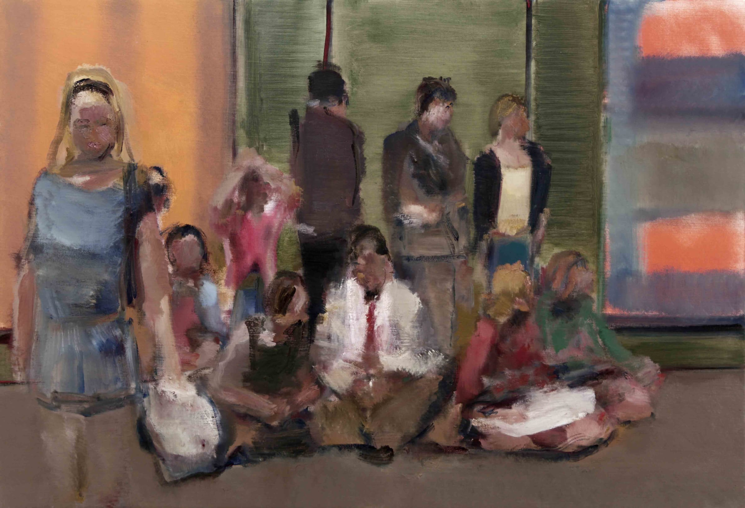 "<span class=""link fancybox-details-link""><a href=""/artists/59-simon-nicholas/works/265-simon-nicholas-gallery-group-1/"">View Detail Page</a></span><div class=""artist""><strong>Simon Nicholas</strong></div> <div class=""title""><em>Gallery Group 1</em></div> <div class=""medium"">Acrylic on Linen</div> <div class=""dimensions"">26 x 38 inches</div>"