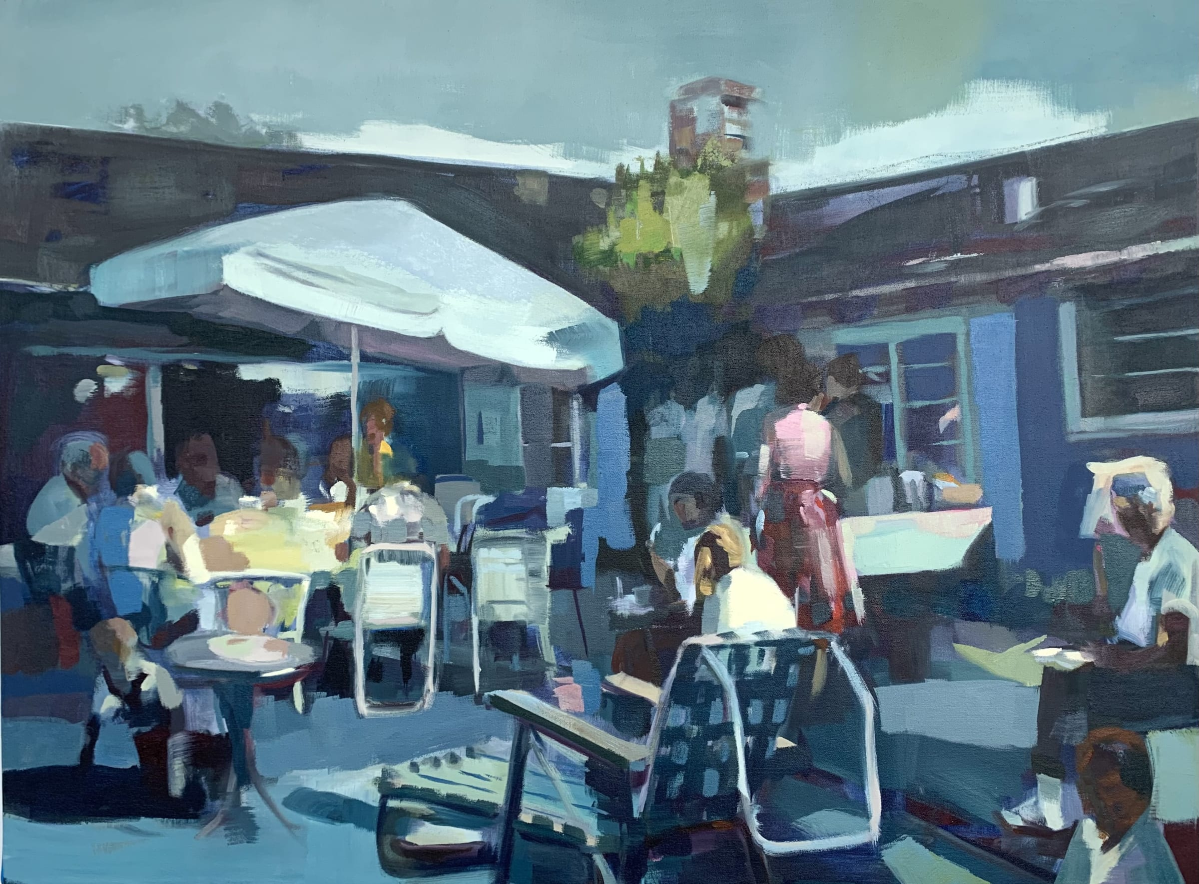 """<span class=""""link fancybox-details-link""""><a href=""""/artists/89-kirsten-tradowsky/works/1546-kirsten-tradowsky-yesterday-s-party/"""">View Detail Page</a></span><div class=""""artist""""><strong>Kirsten Tradowsky</strong></div> <div class=""""title""""><em>Yesterday's Party</em></div> <div class=""""medium"""">Oil on canvas</div> <div class=""""dimensions"""">30 x 40 inches</div>"""