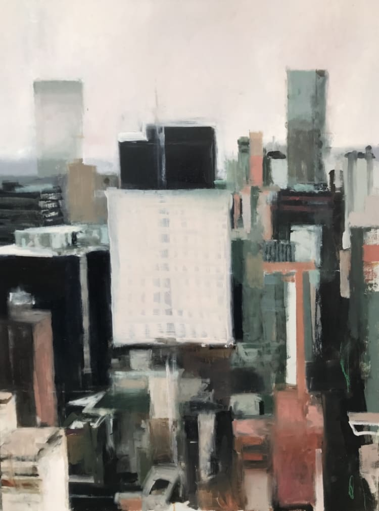 """<span class=""""link fancybox-details-link""""><a href=""""/artists/56-hadas-tal/works/300-hadas-tal-williamsburg/"""">View Detail Page</a></span><div class=""""artist""""><strong>Hadas Tal</strong></div> <div class=""""title""""><em>Williamsburg</em></div> <div class=""""medium"""">Oil on Wood Panel</div> <div class=""""dimensions"""">40 x 30 inches <br /> </div>"""