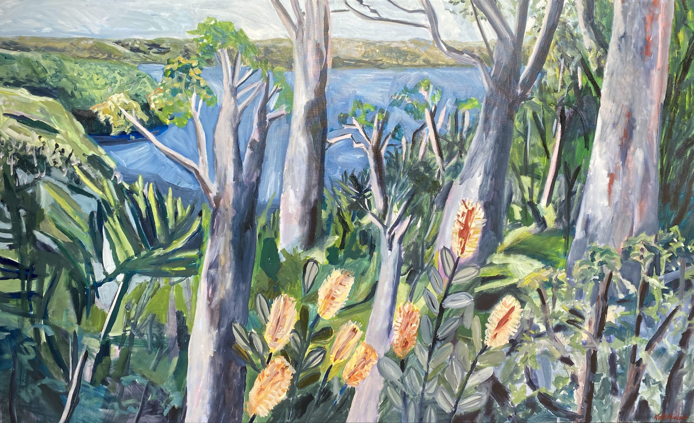 """<span class=""""link fancybox-details-link""""><a href=""""/artists/88-kate-nielsen/works/1470-kate-nielsen-view-from-taronga/"""">View Detail Page</a></span><div class=""""artist""""><strong>Kate Nielsen</strong></div> <div class=""""title""""><em>View from Taronga</em></div> <div class=""""medium"""">Oil on canvas</div> <div class=""""dimensions"""">48 x 71 inches<br /> 121 x 180 cm</div>"""