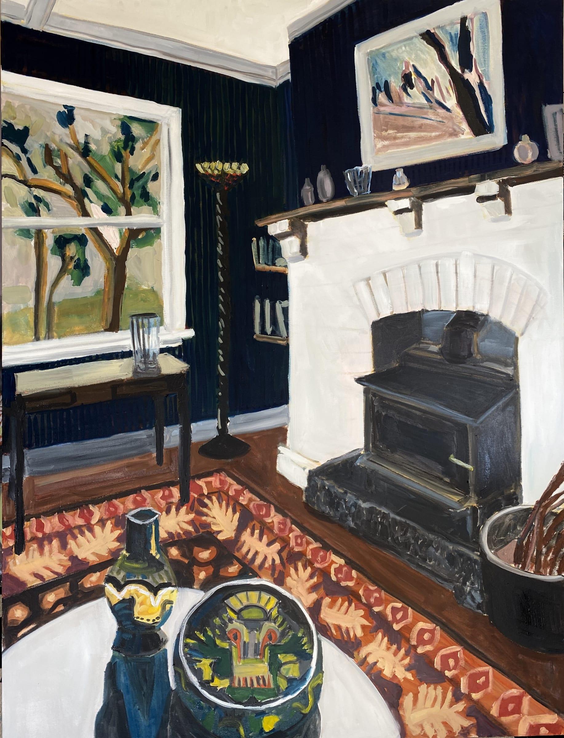 "<span class=""link fancybox-details-link""><a href=""/artists/88-kate-nielsen/works/1250-kate-nielsen-living-room-with-orange-rug/"">View Detail Page</a></span><div class=""artist""><strong>Kate Nielsen</strong></div> <div class=""title""><em>Living Room With Orange Rug</em></div> <div class=""medium"">Oil on canvas</div> <div class=""dimensions"">48 x 36 inches (framed in light Tasmanian oak)</div>"