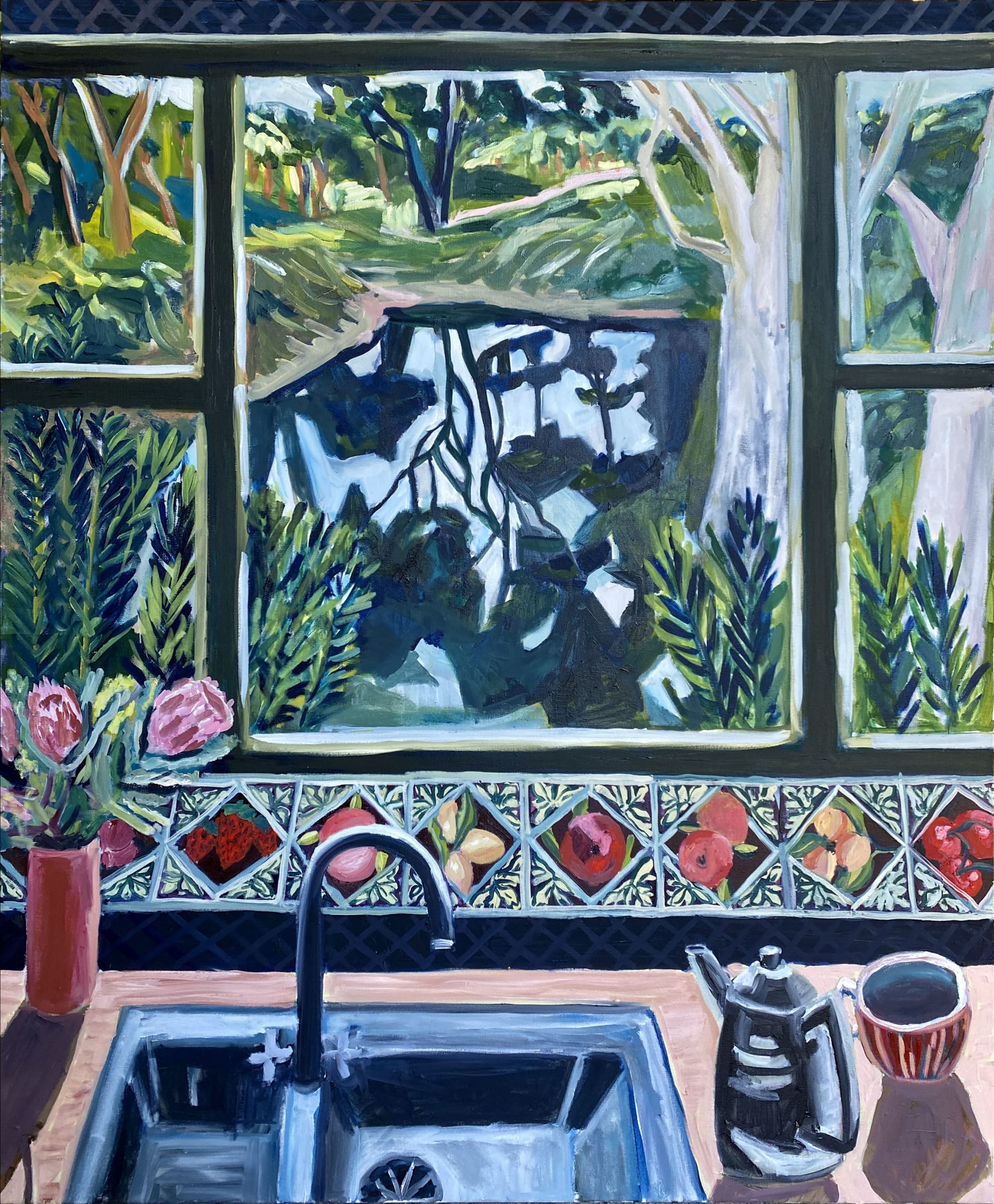 """<span class=""""link fancybox-details-link""""><a href=""""/artists/88-kate-nielsen/works/1472-kate-nielsen-view-of-the-dam/"""">View Detail Page</a></span><div class=""""artist""""><strong>Kate Nielsen</strong></div> <div class=""""title""""><em>View of the Dam</em></div> <div class=""""medium"""">Oil on canvas</div> <div class=""""dimensions"""">48 x 40 inches<br /> 121 x 101 cm</div>"""