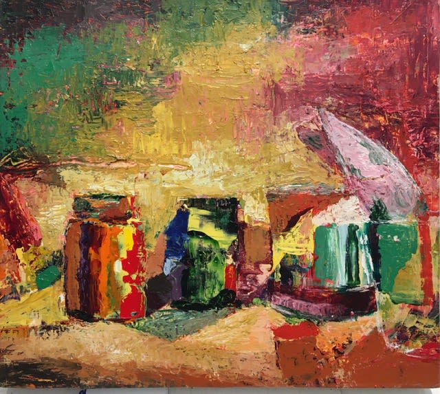 """<span class=""""link fancybox-details-link""""><a href=""""/artists/25-foad-satterfield/works/616-foad-satterfield-still-life-i/"""">View Detail Page</a></span><div class=""""artist""""><strong>Foad Satterfield</strong></div> <div class=""""title""""><em>Still Life I</em></div> <div class=""""medium"""">Acrylic on Canvas</div> <div class=""""dimensions"""">16 x 18 inches </div>"""