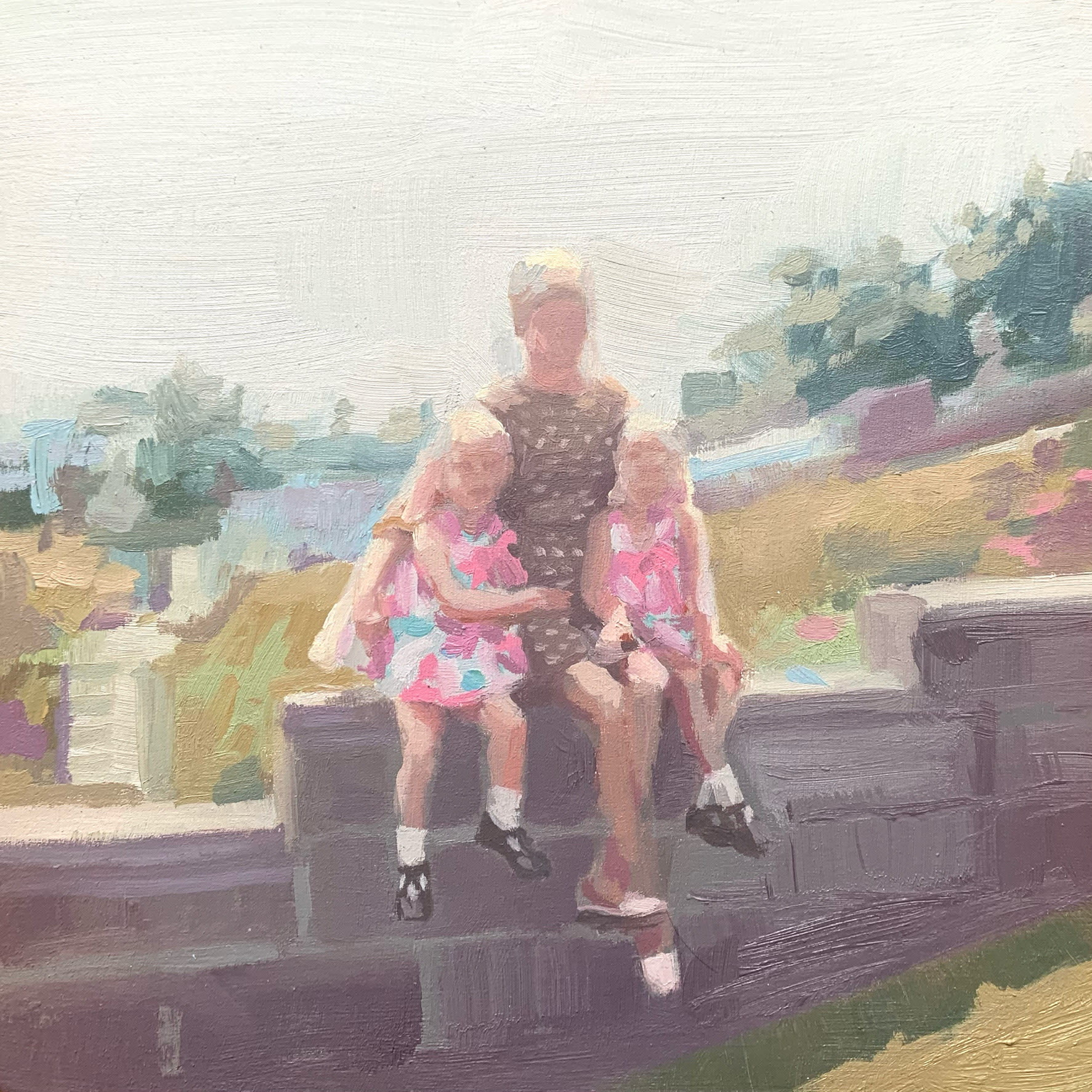 "<span class=""link fancybox-details-link""><a href=""/artists/89-kirsten-tradowsky/works/1306-kirsten-tradowsky-outing-with-the-twins/"">View Detail Page</a></span><div class=""artist""><strong>Kirsten Tradowsky</strong></div> <div class=""title""><em>Outing with the Twins</em></div> <div class=""medium"">Oil on panel</div> <div class=""dimensions"">5 x 5 inches</div>"