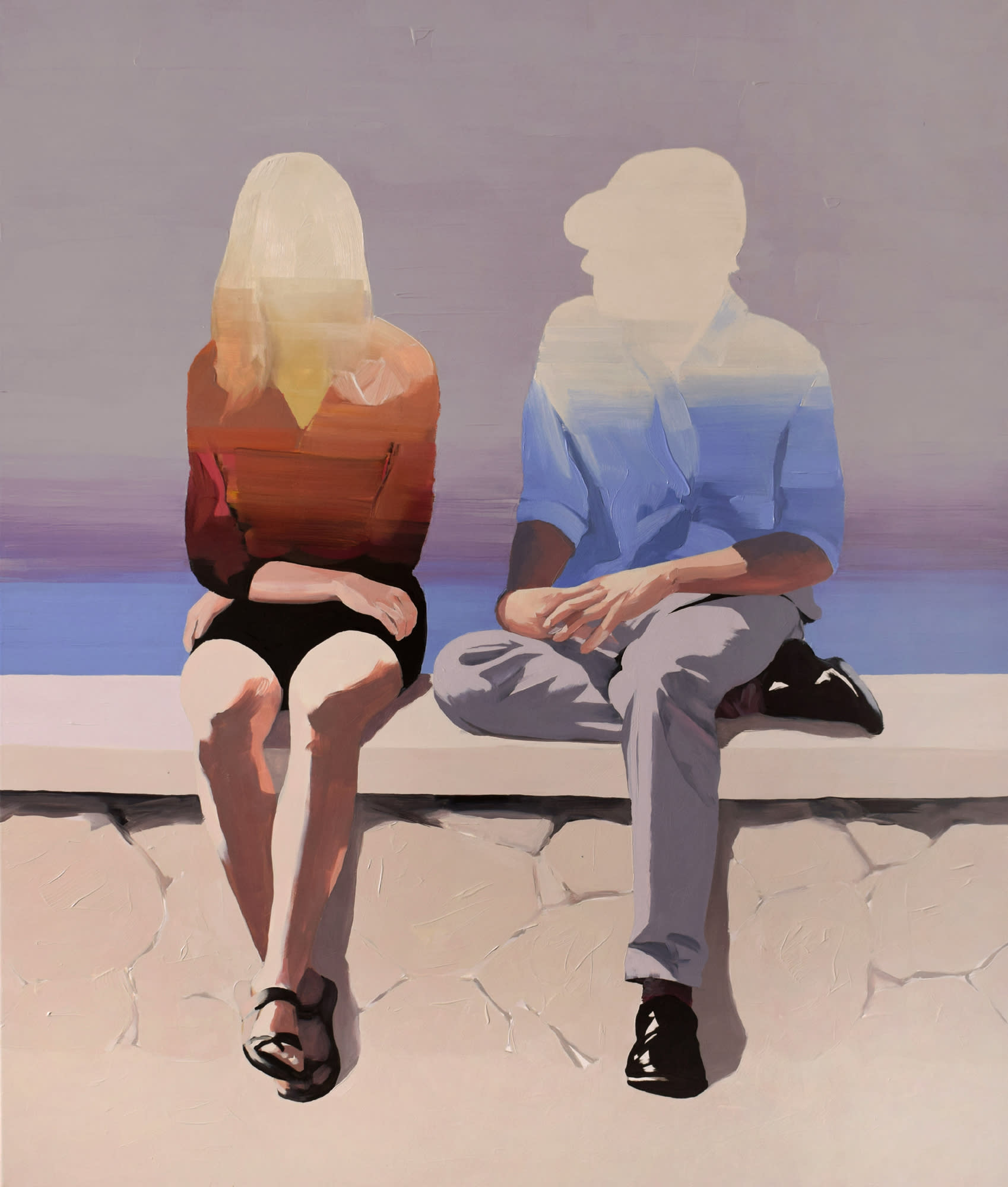 """<span class=""""link fancybox-details-link""""><a href=""""/artists/54-jarek-puczel/works/574-jarek-puczel-couple-at-the-seaside/"""">View Detail Page</a></span><div class=""""artist""""><strong>Jarek Puczel</strong></div> <div class=""""title""""><em>Couple at the Seaside </em></div> <div class=""""medium"""">Oil on Canvas </div> <div class=""""dimensions"""">55 x 47 inches </div>"""