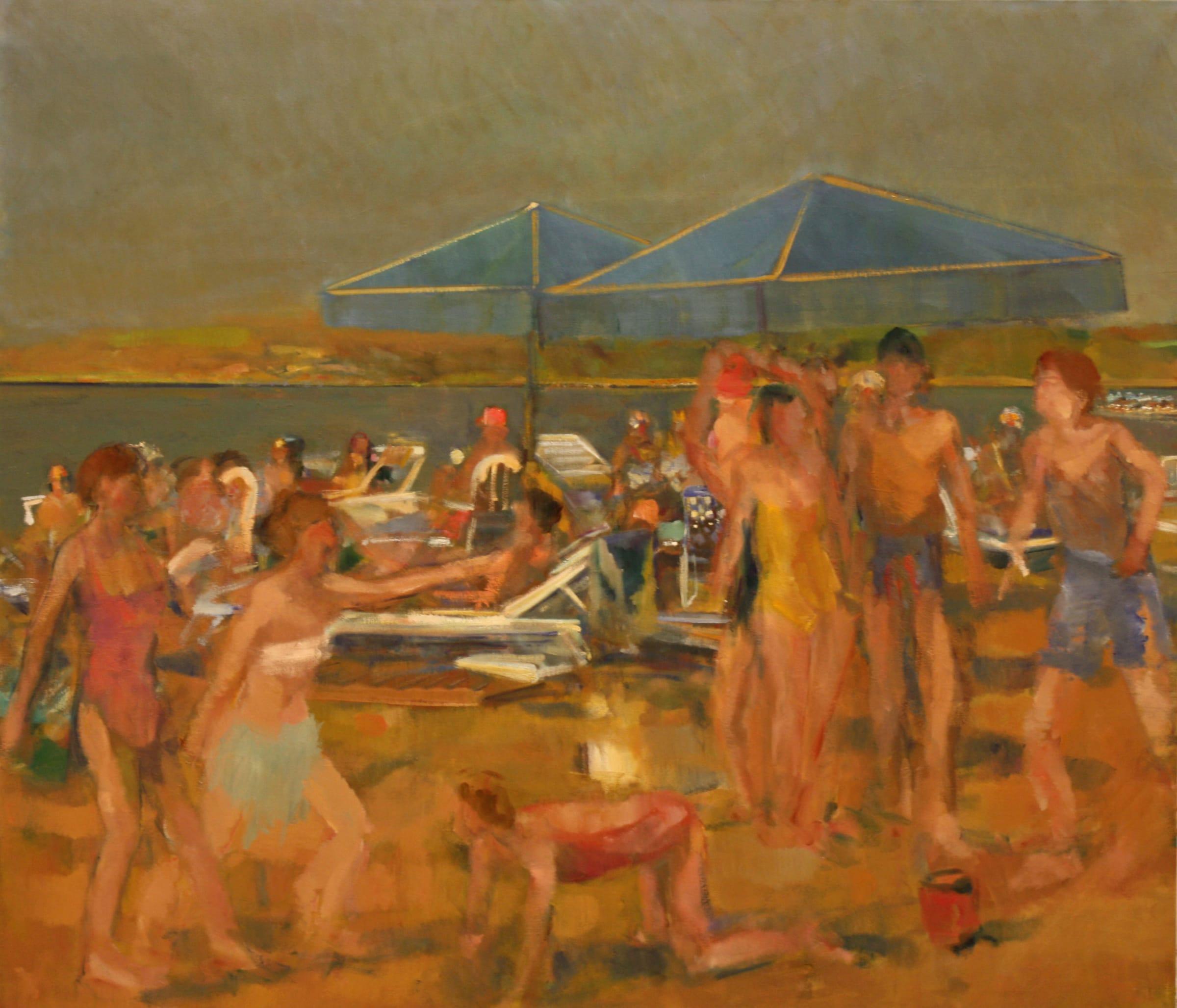 "<span class=""link fancybox-details-link""><a href=""/artists/59-simon-nicholas/works/1125-simon-nicholas-beach-spartans/"">View Detail Page</a></span><div class=""artist""><strong>Simon Nicholas</strong></div> <div class=""title""><em>Beach Spartans</em></div> <div class=""medium"">Oil on Canvas</div> <div class=""dimensions"">57 x 63 inches </div>"