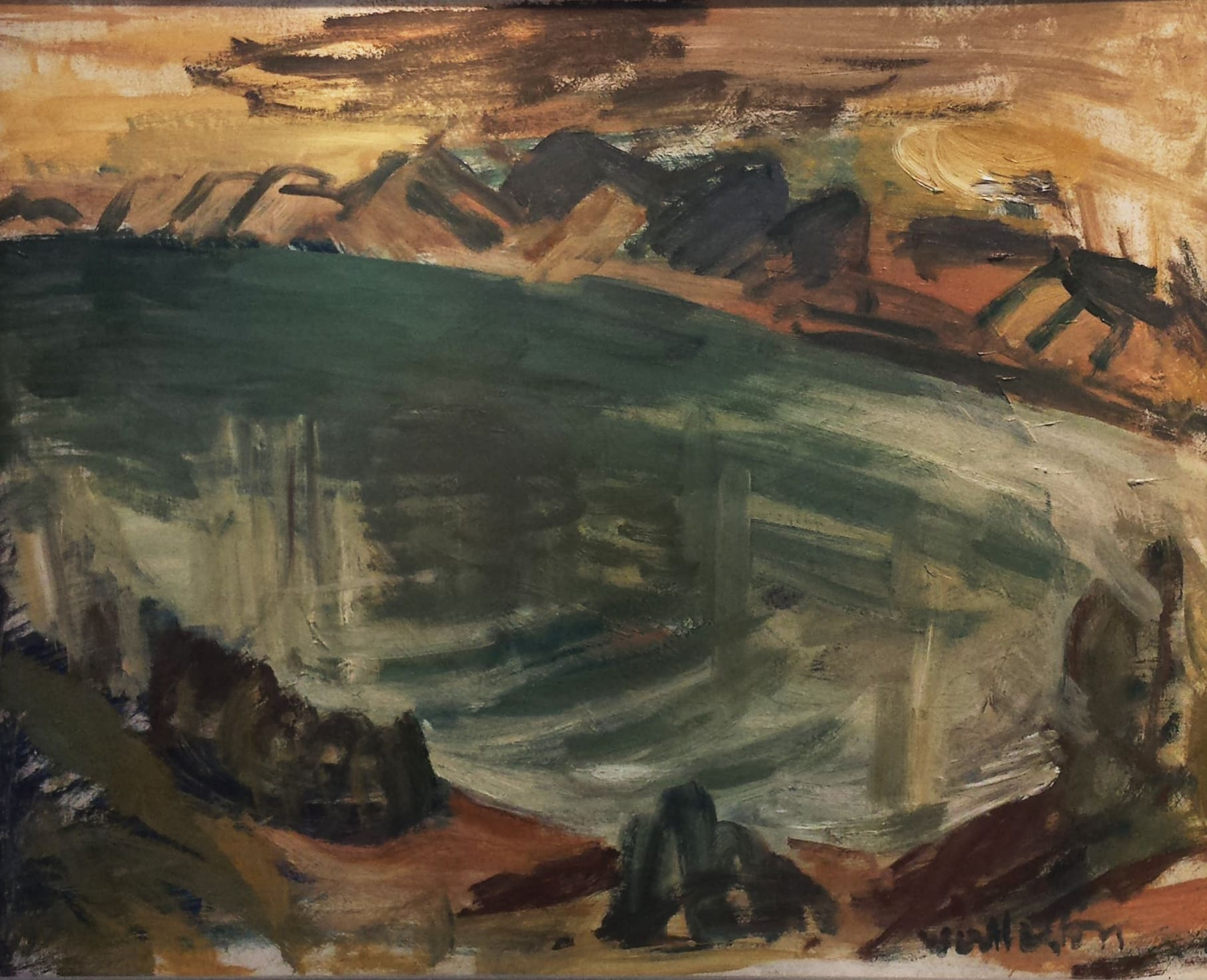 <span class=&#34;link fancybox-details-link&#34;><a href=&#34;/exhibitions/57/works/artworks5054/&#34;>View Detail Page</a></span><div class=&#34;signed_and_dated&#34;>Signed</div> <div class=&#34;medium&#34;>Oil on cardboard</div> <div class=&#34;dimensions&#34;>19.1 x 23.6 in<br />48.5 x 60 cm</div>