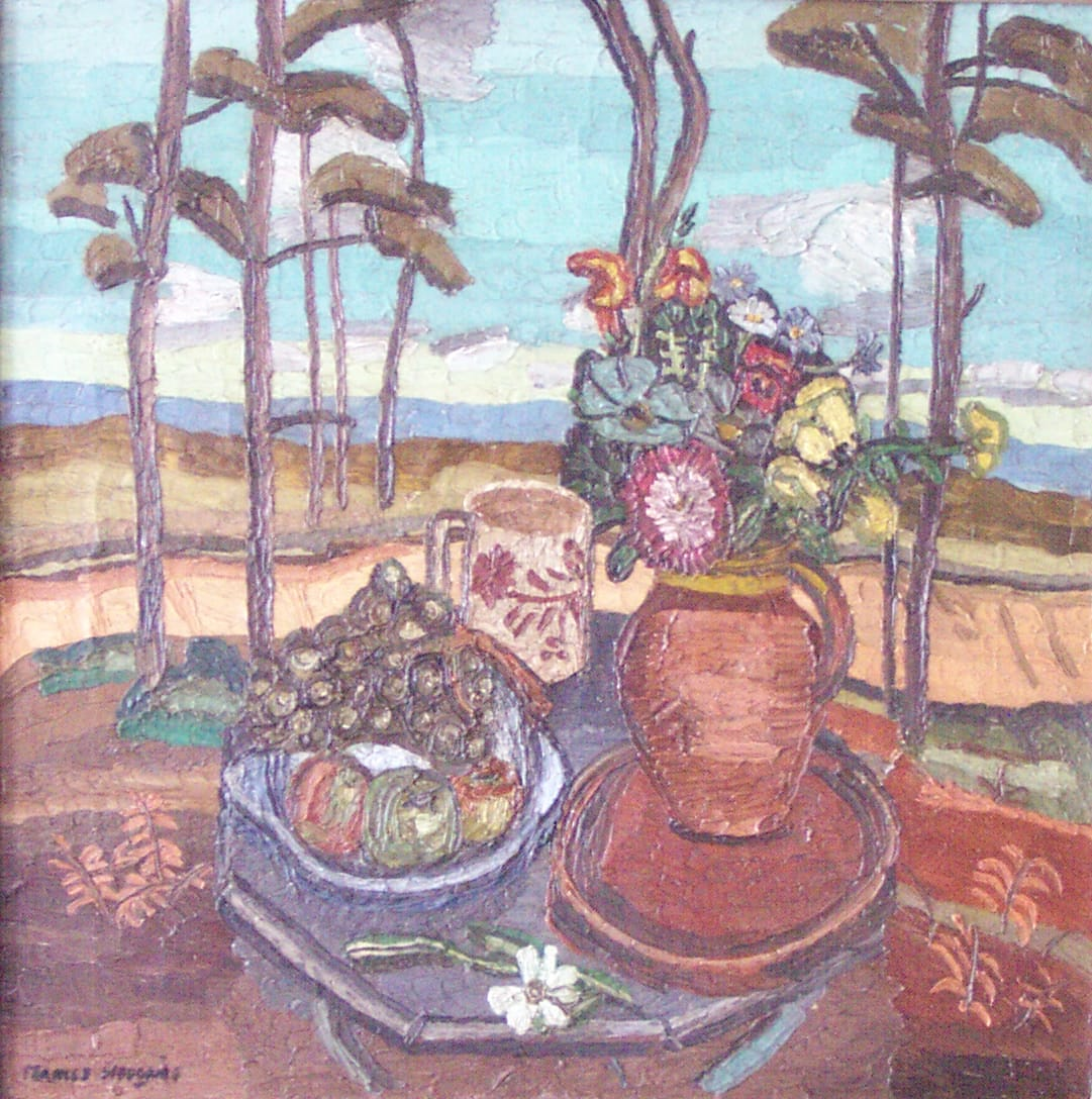 "<span class=""link fancybox-details-link""><a href=""/artists/115-frances-mary-hodgkins/works/7631-frances-mary-hodgkins-untitled-still-life-with-flowers-in-a-landscape-c1929/"">View Detail Page</a></span><div class=""artist""><strong>Frances Mary Hodgkins</strong></div> <div class=""title""><em>Untitled [Still Life with Flowers in a Landscape] </em>, c1929</div> <div class=""medium"">Oil on canvas</div> <div class=""dimensions"">54.5 x 54.5 cm</div><div class=""copyright_line"">Copyright The Artist</div>"