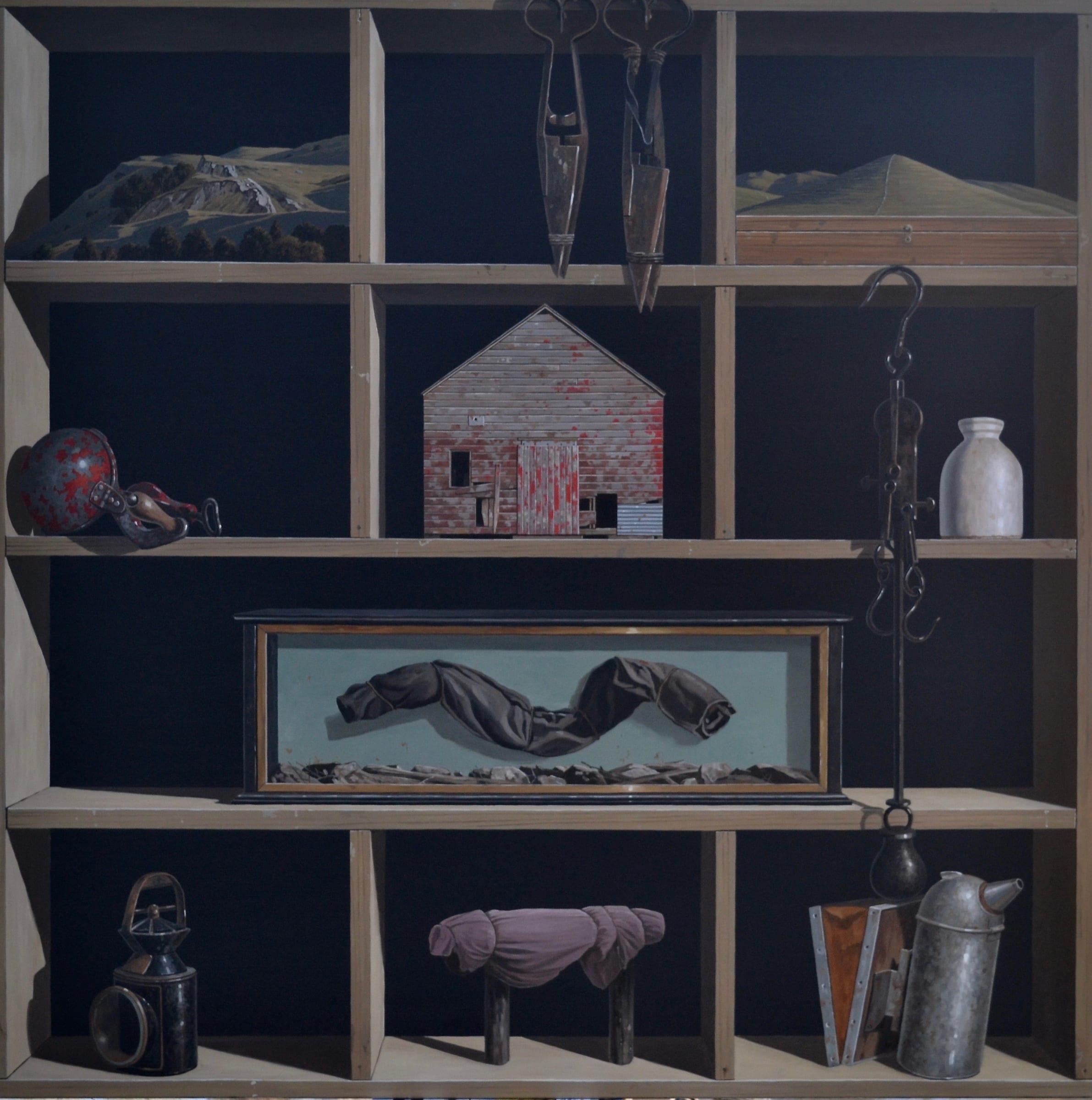 "<span class=""link fancybox-details-link""><a href=""/exhibitions/120/works/artworks8745/"">View Detail Page</a></span><div class=""medium"">Oil on linen</div> <div class=""dimensions"">1120mm x 1120mm</div>"