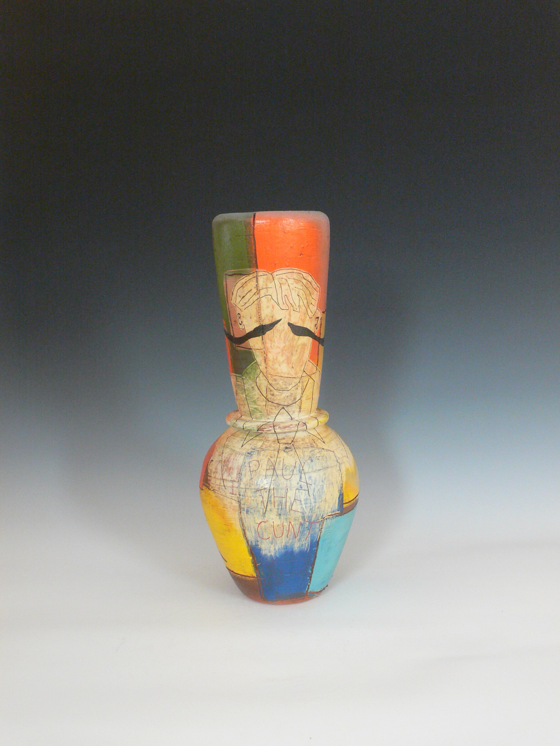 """<span class=""""link fancybox-details-link""""><a href=""""/exhibitions/99/works/artworks8317/"""">View Detail Page</a></span><div class=""""medium"""">clay, slip, glaze - wood kiln firing</div> <div class=""""dimensions"""">480mm x 200mm x 200mm</div>"""