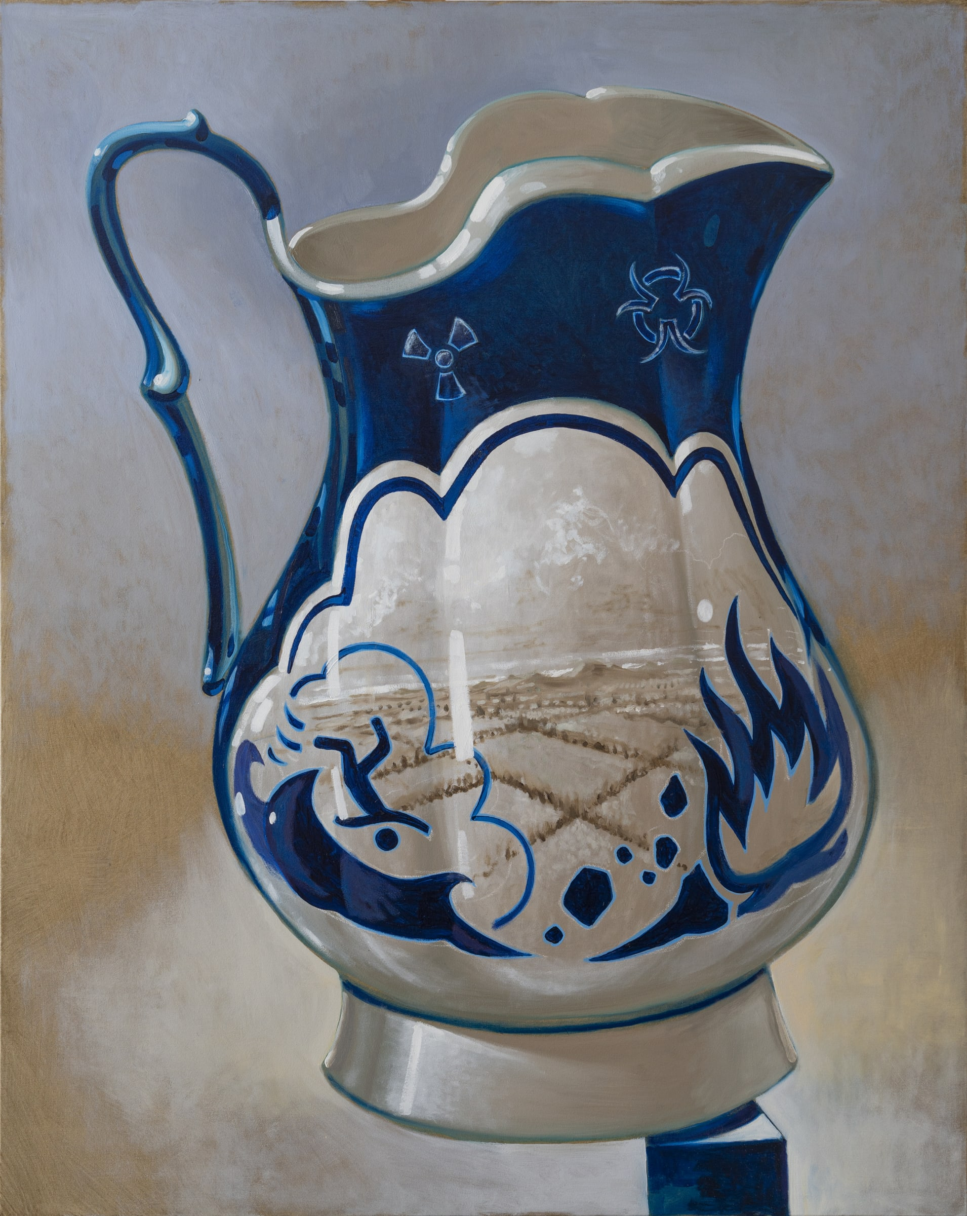 "<span class=""link fancybox-details-link""><a href=""/artists/51-derek-cowie/works/7841-derek-cowie-blue-jug-2019/"">View Detail Page</a></span><div class=""artist""><strong>Derek Cowie</strong></div> <div class=""title""><em>Blue Jug</em>, 2019</div> <div class=""medium"">Oil on canvas</div> <div class=""dimensions"">1520mm x 1210mm</div><div class=""copyright_line"">Copyright The Artist</div>"