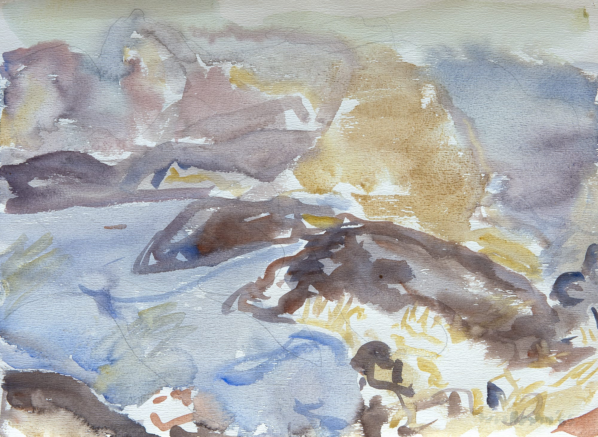 """<span class=""""link fancybox-details-link""""><a href=""""/exhibitions/116/works/artworks5089/"""">View Detail Page</a></span><div class=""""signed_and_dated"""">Signed bottom right corner</div> <div class=""""medium"""">Watercolour and pencil on paper</div> <div class=""""dimensions"""">11.1 x 14.9 in<br />28.1 x 37.9 cm<br /> (unframed)</div>"""
