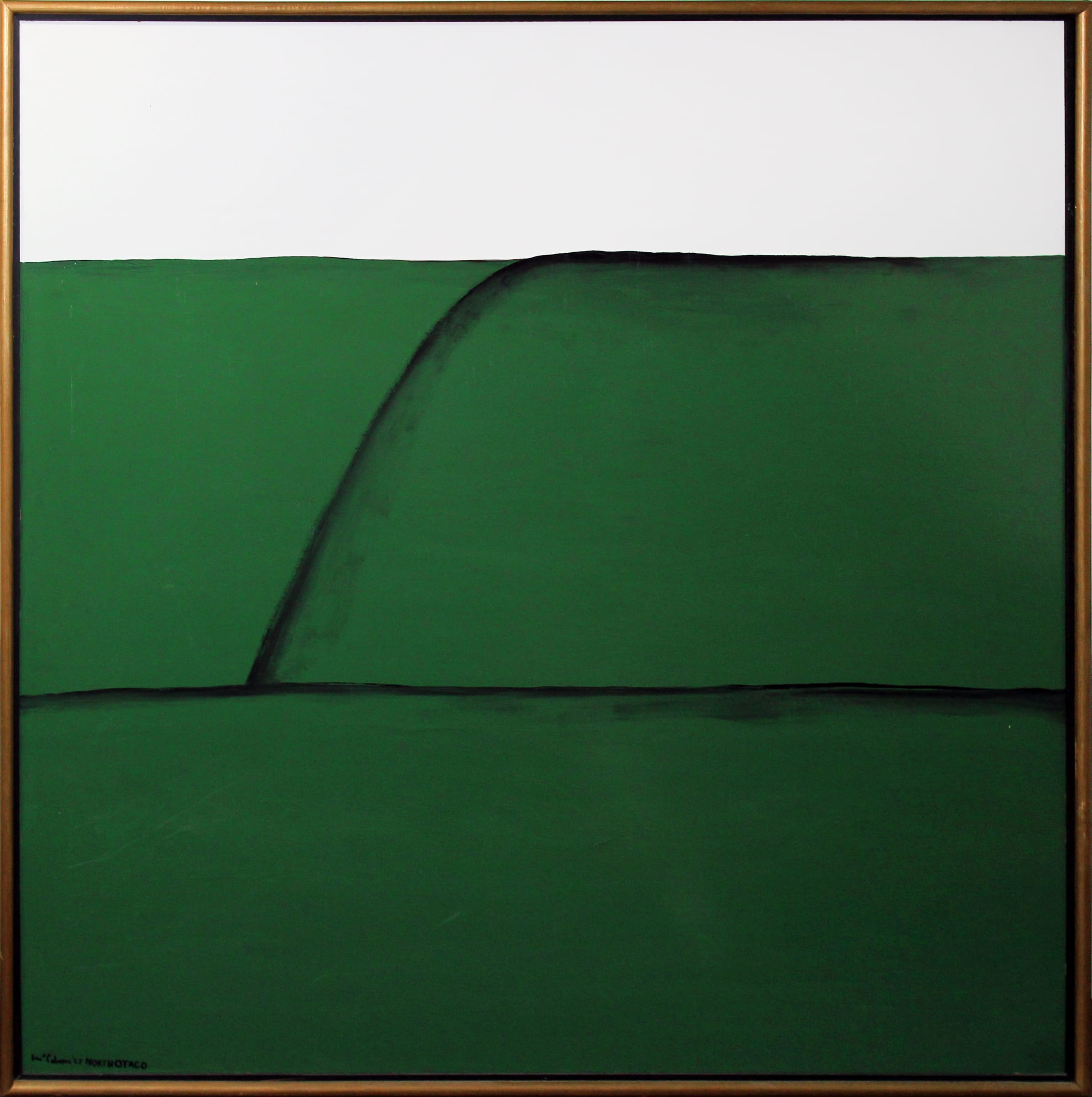 <span class=&#34;link fancybox-details-link&#34;><a href=&#34;/artists/89-colin-mccahon/works/5181-colin-mccahon-north-otago-landscape-5-1967/&#34;>View Detail Page</a></span><div class=&#34;artist&#34;><strong>Colin McCAHON</strong></div> <div class=&#34;title&#34;><em>North Otago Landscape 5</em>, 1967</div> <div class=&#34;medium&#34;>Oil on hardboard</div> <div class=&#34;dimensions&#34;>47.7 x 47.2 in<br />121.2 x 120 cm</div>