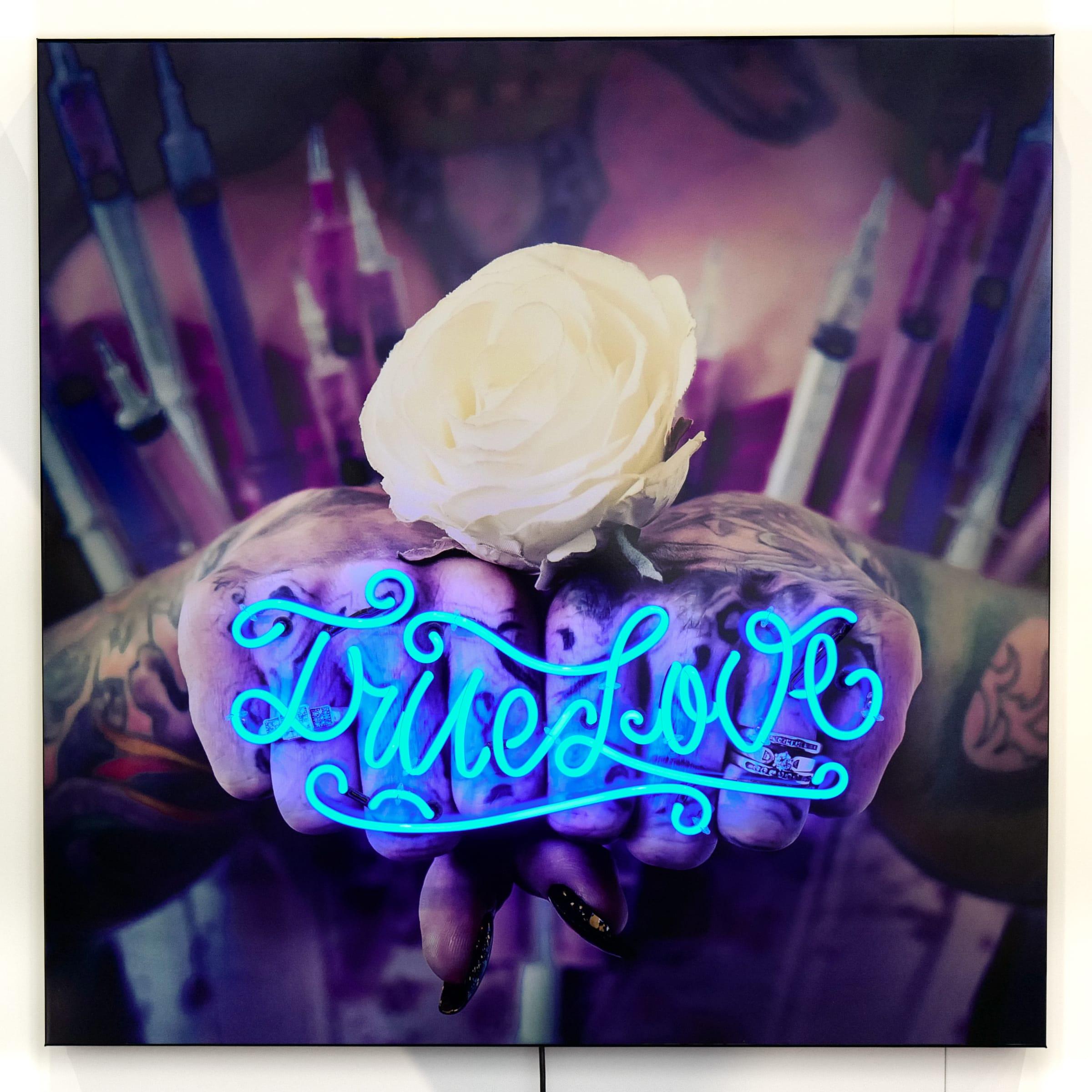 "<span class=""link fancybox-details-link""><a href=""/artists/61-stuart-robertson/works/6733-stuart-robertson-true-love-neon/"">View Detail Page</a></span><div class=""artist""><strong>Stuart Robertson</strong></div> <div class=""title""><em>True Love Neon</em></div> <div class=""medium"">Mixed media</div> <div class=""dimensions"">39.4 x 39.4 in<br />100 x 100 cm</div> <div class=""edition_details"">#1/11</div>"