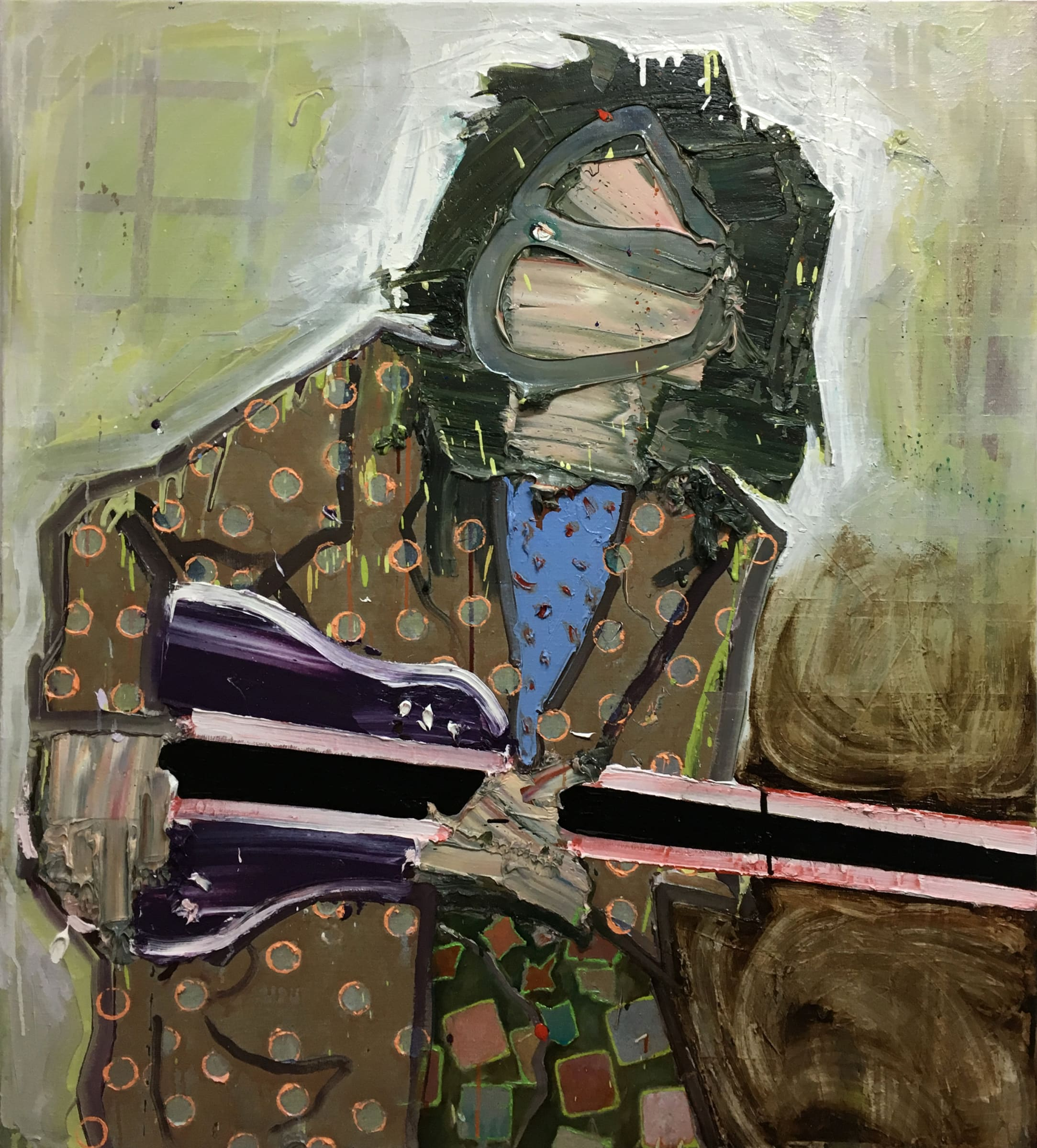 "<span class=""link fancybox-details-link""><a href=""/artists/57-toby-raine/works/7153-toby-raine-jimmy-page-backstage-in-miami-with-fancy-coat-2017/"">View Detail Page</a></span><div class=""artist""><strong>Toby Raine</strong></div> <div class=""title""><em>Jimmy Page backstage in Miami with fancy coat and guitar</em>, 2017</div> <div class=""medium"">Oil on linen</div> <div class=""dimensions"">43.3 x 39.4 in<br />110 x 100 cm</div>"