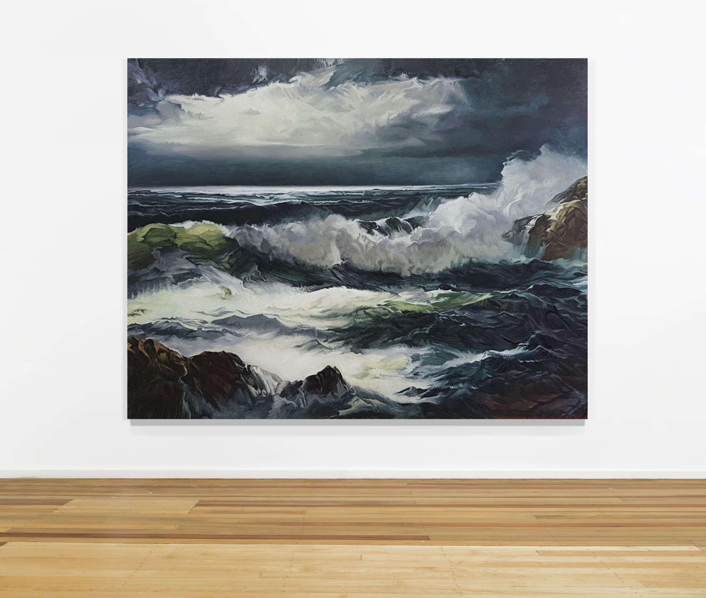 """<span class=""""link fancybox-details-link""""><a href=""""/artists/45-dick-frizzell/works/7194-dick-frizzell-moonlight-through-a-breaking-wave-2016/"""">View Detail Page</a></span><div class=""""artist""""><strong>Dick FRIZZELL</strong></div> <div class=""""title""""><em>Moonlight Through A Breaking Wave</em>, 2016</div> <div class=""""medium"""">Oil on canvas</div> <div class=""""dimensions"""">70.9 x 90.6 in<br />180 x 230 cm</div>"""