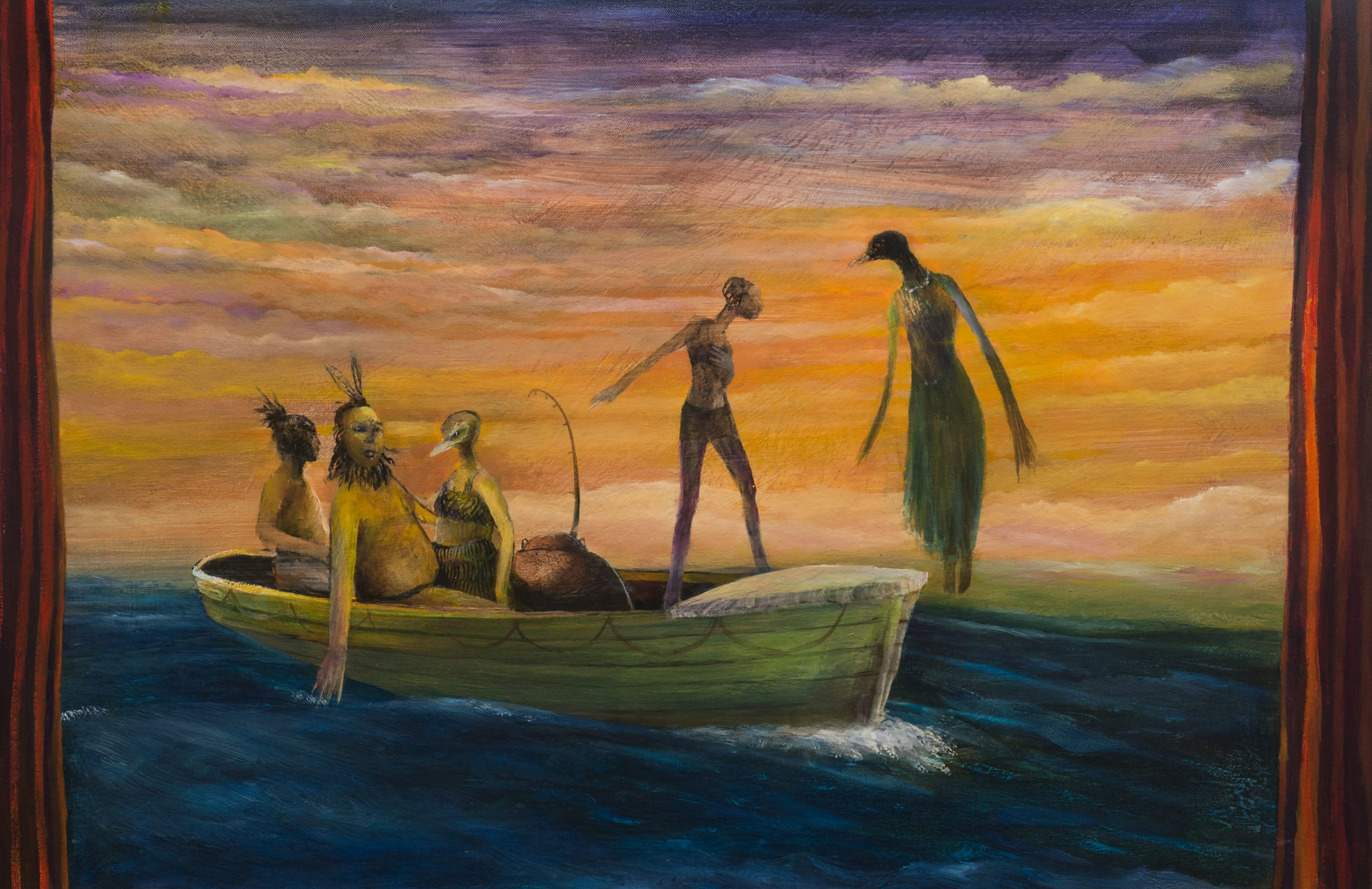 """<span class=""""link fancybox-details-link""""><a href=""""/artists/54-john-walsh/works/7351-john-walsh-the-life-boat-2018/"""">View Detail Page</a></span><div class=""""artist""""><strong>John WALSH</strong></div> <div class=""""title""""><em>The Life Boat</em>, 2018</div> <div class=""""medium"""">Oil on canvas</div> <div class=""""dimensions"""">61 x 91 cm<br /> 24 1/8 x 35 7/8 in</div><div class=""""copyright_line"""">Copyright The Artist</div>"""