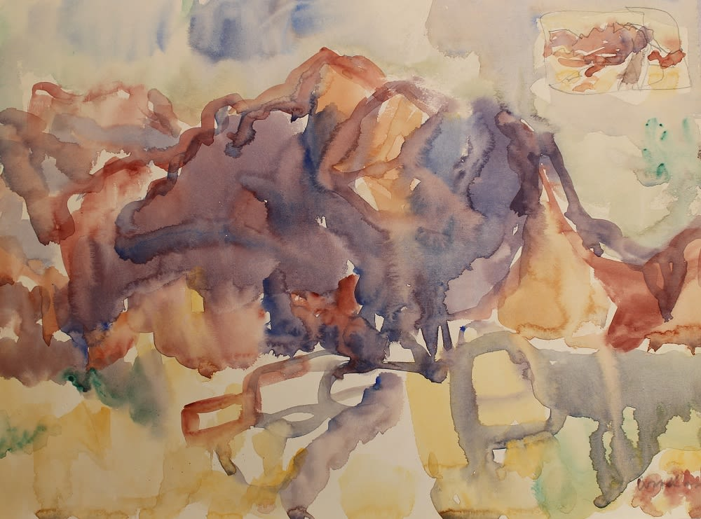 <span class=&#34;link fancybox-details-link&#34;><a href=&#34;/exhibitions/57/works/artworks5026/&#34;>View Detail Page</a></span><div class=&#34;signed_and_dated&#34;>Signed bottom right corner</div> <div class=&#34;medium&#34;>Watercolour and pencil on paper</div> <div class=&#34;dimensions&#34;>10.6 x 14.6 in<br />27 x 37 cm</div>