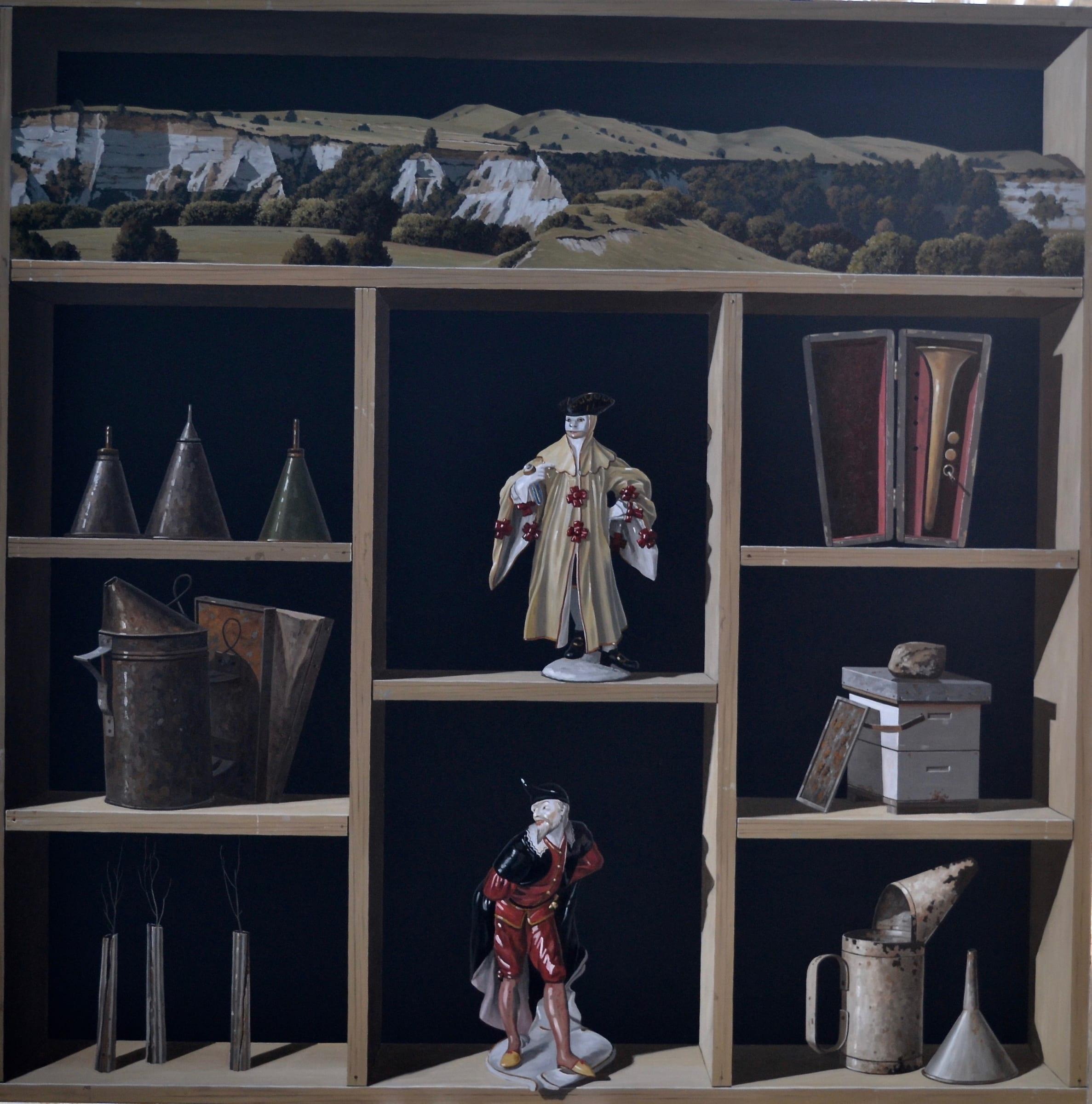 "<span class=""link fancybox-details-link""><a href=""/exhibitions/120/works/artworks8746/"">View Detail Page</a></span><div class=""medium"">Oil on linen</div> <div class=""dimensions"">1120mm x 1120mm</div>"