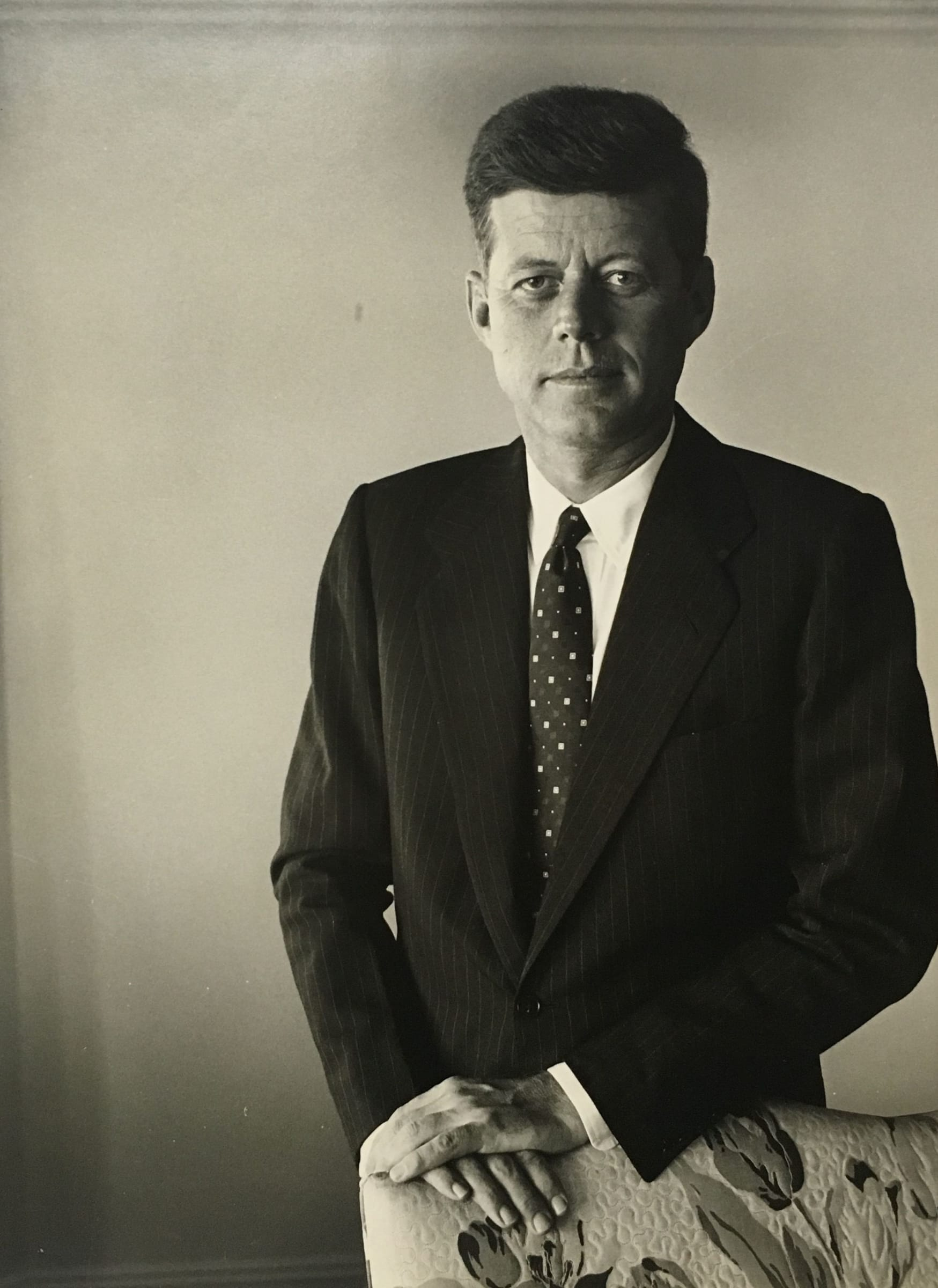 Senator John F. Kennedy in Boston, 1957. : Colorization