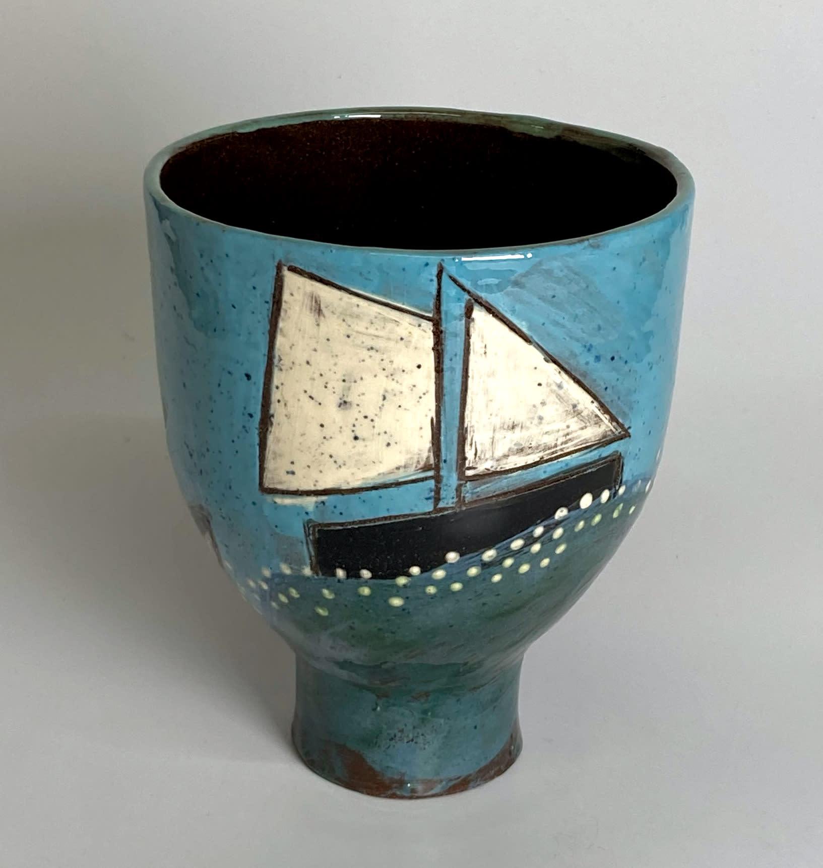 "<span class=""link fancybox-details-link""><a href=""/artists/428-anne-barrell/works/7696-anne-barrell-sailing-into-harbour-2021/"">View Detail Page</a></span><div class=""artist""><strong>Anne Barrell</strong></div> <div class=""title""><em>Sailing into Harbour</em>, 2021</div> <div class=""medium"">handmade, hand-painted ceramic </div> <div class=""dimensions"">h. 14 x w. 13 cm </div><div class=""price"">£150.00</div><div class=""copyright_line"">Own Art: £15 x 10 Months, 0% APR</div>"