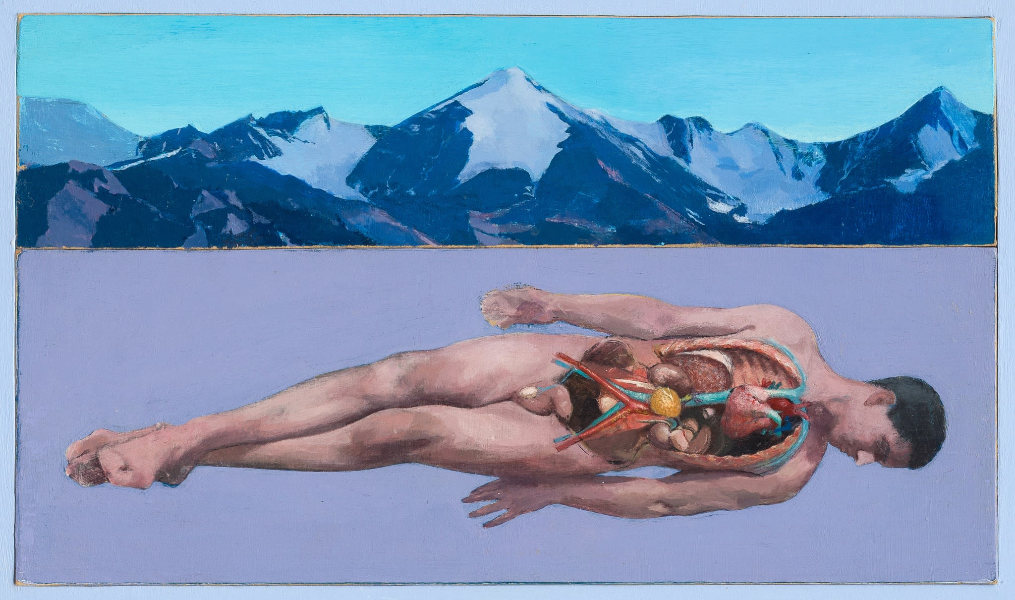 "<span class=""link fancybox-details-link""><a href=""/artists/65-simon-turner/works/619-simon-turner-prometheus-2013/"">View Detail Page</a></span><div class=""artist""><strong>Simon Turner</strong></div> b. 1973 <div class=""title""><em>Prometheus</em>, 2013</div> <div class=""medium"">acrylic on board</div> <div class=""dimensions"">h. 24 x w. 41 cm</div><div class=""price"">£650.00</div><div class=""copyright_line"">£ 65 x 10 Months, OwnArt 0% APR</div>"