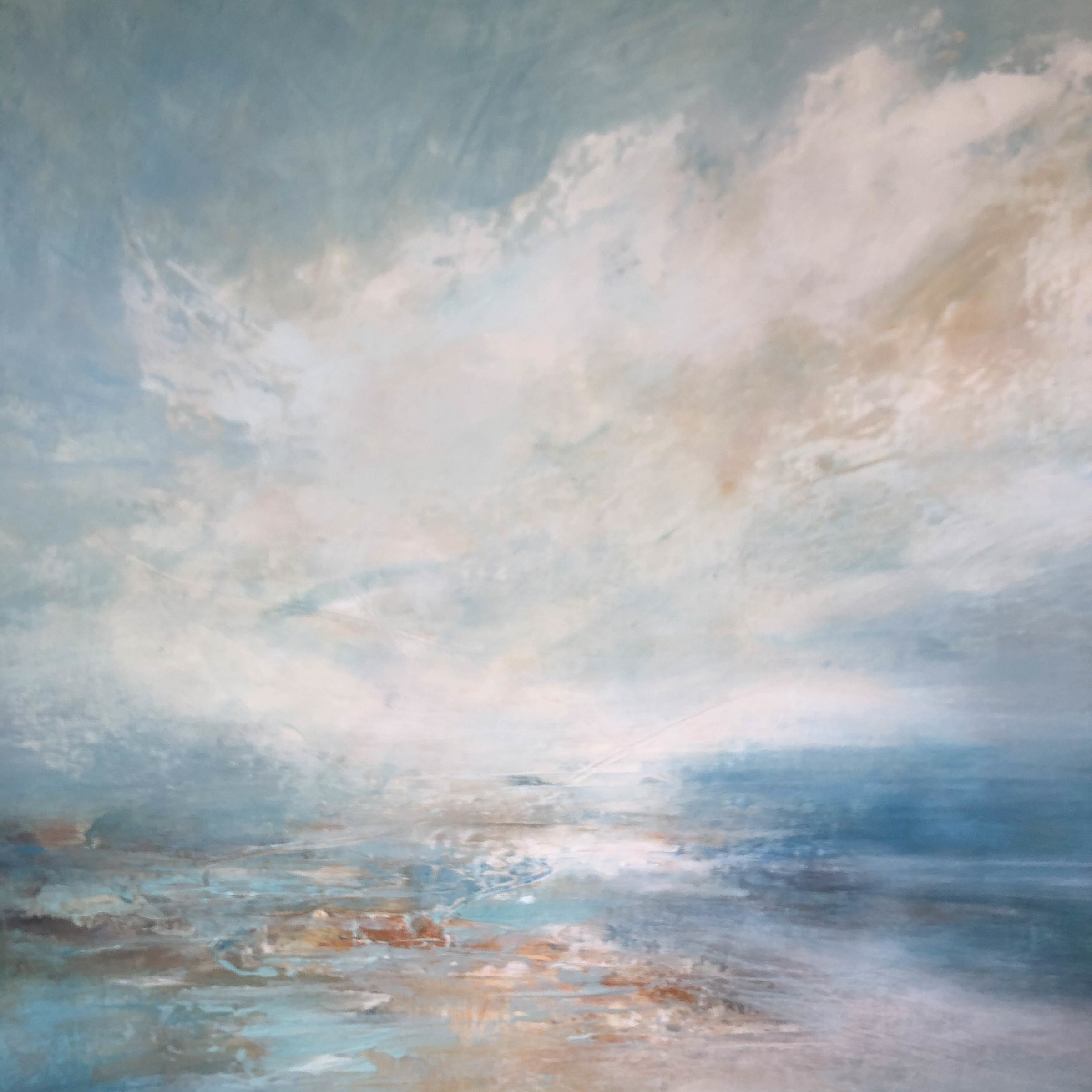 "<span class=""link fancybox-details-link""><a href=""/artists/41-erin-ward/works/7225-erin-ward-cloud-reflections-2020/"">View Detail Page</a></span><div class=""artist""><strong>Erin Ward</strong></div> b. 1966 <div class=""title""><em>Cloud Reflections</em>, 2020</div> <div class=""medium"">acrylic on canvas</div> <div class=""dimensions"">h. 61 cm x w. 61 cm</div><div class=""price"">£1,190.00</div><div class=""copyright_line"">Ownart: £119 x 10 Months, 0% APR</div>"