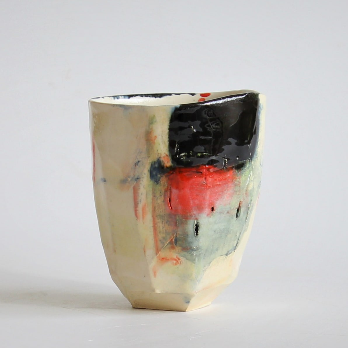 """<span class=""""link fancybox-details-link""""><a href=""""/artists/34-barry-stedman/works/6736-barry-stedman-each-passing-day-series-vessel-j-2019/"""">View Detail Page</a></span><div class=""""artist""""><strong>Barry Stedman</strong></div> b. 1965 <div class=""""title""""><em>'Each Passing Day' Series Vessel (J)</em>, 2019</div> <div class=""""medium"""">thrown and altered earthenware, decorated with slips</div> <div class=""""dimensions"""">11 x 9 cm</div><div class=""""price"""">£140.00</div><div class=""""copyright_line"""">Own Art: £ 14 x 10 Months, 0% APR</div>"""