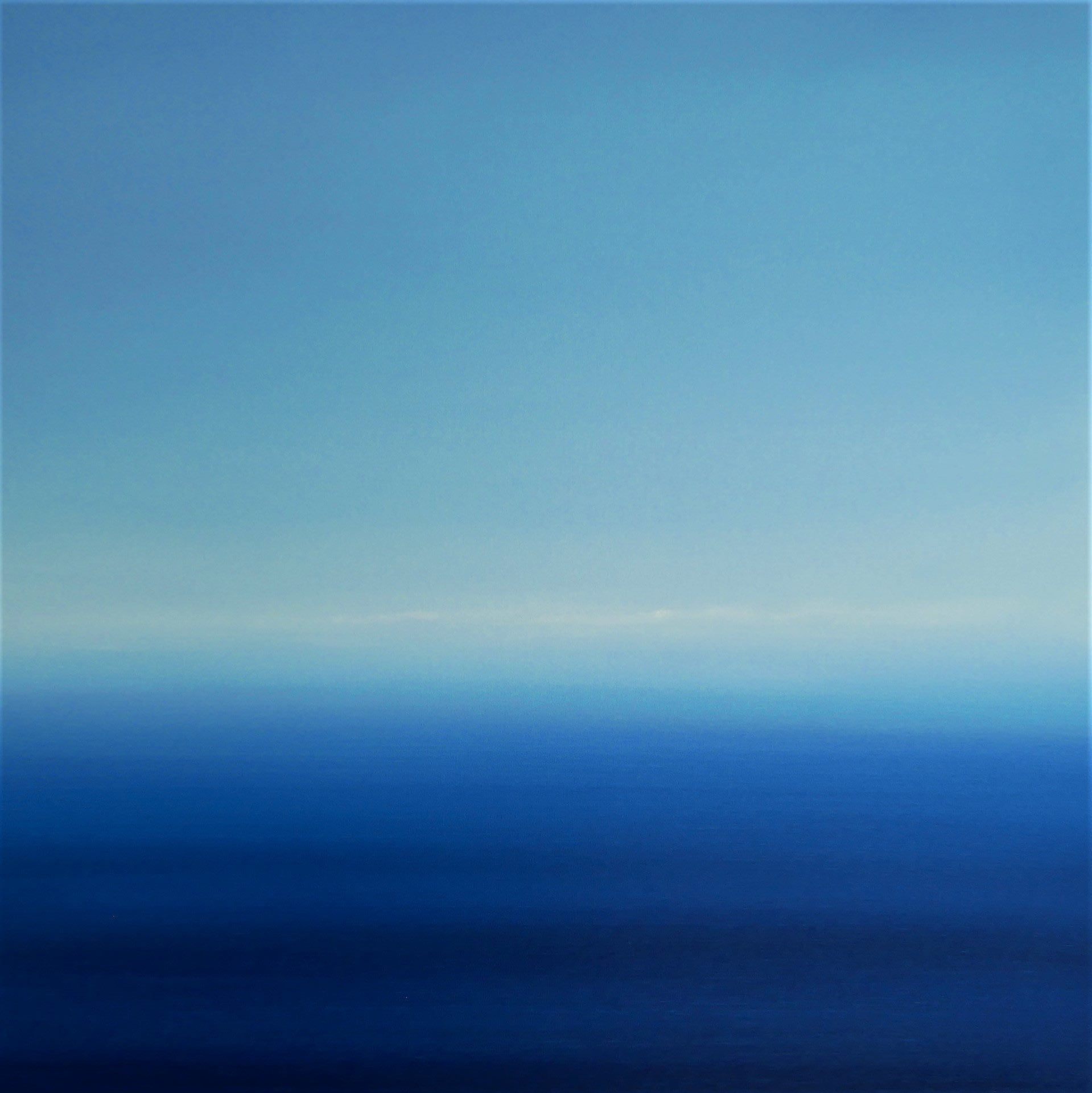 """<span class=""""link fancybox-details-link""""><a href=""""/artists/78-martyn-perryman/works/7914-martyn-perryman-calming-light-st-ives-bay-2021/"""">View Detail Page</a></span><div class=""""artist""""><strong>Martyn Perryman</strong></div> b. 1963 <div class=""""title""""><em>Calming Light St Ives Bay </em>, 2021</div> <div class=""""medium"""">oil on canvas<br /> framed</div> <div class=""""dimensions"""">canvas size: h. 80 x w. 80 cm <br /> <br /> </div><div class=""""copyright_line"""">Ownart: £120 x 10 Months, 0% APR</div>"""