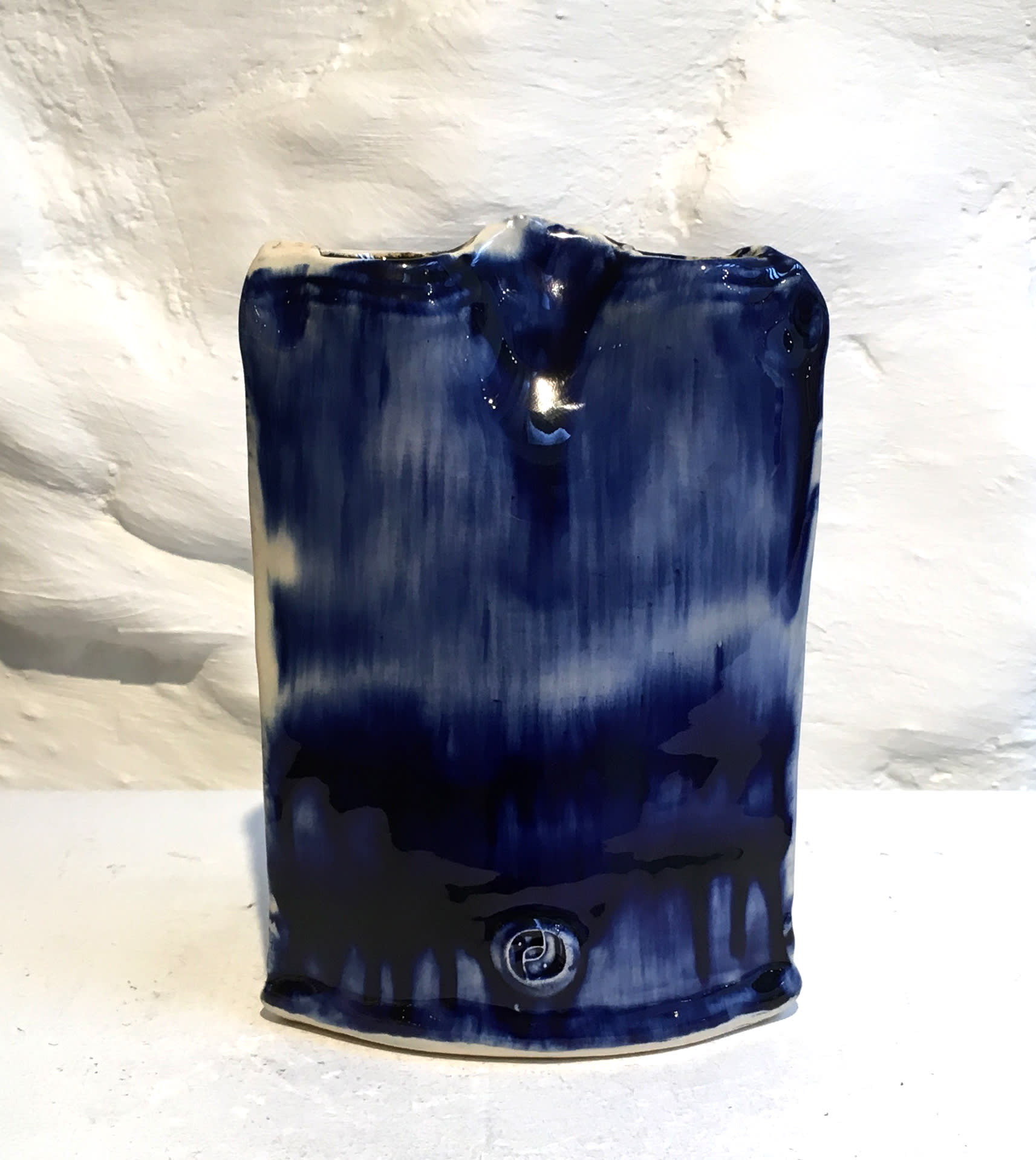 """<span class=""""link fancybox-details-link""""><a href=""""/artists/100-john-pollex/works/6039-john-pollex-ikebana-slab-2018/"""">View Detail Page</a></span><div class=""""artist""""><strong>John Pollex</strong></div> b. 1941 <div class=""""title""""><em>Ikebana Slab</em>, 2018</div> <div class=""""signed_and_dated"""">impressed with the artist's seal mark 'JP'</div> <div class=""""medium"""">white earthenware decorated with coloured slips</div><div class=""""price"""">£90.00</div><div class=""""copyright_line"""">Copyright The Artist</div>"""