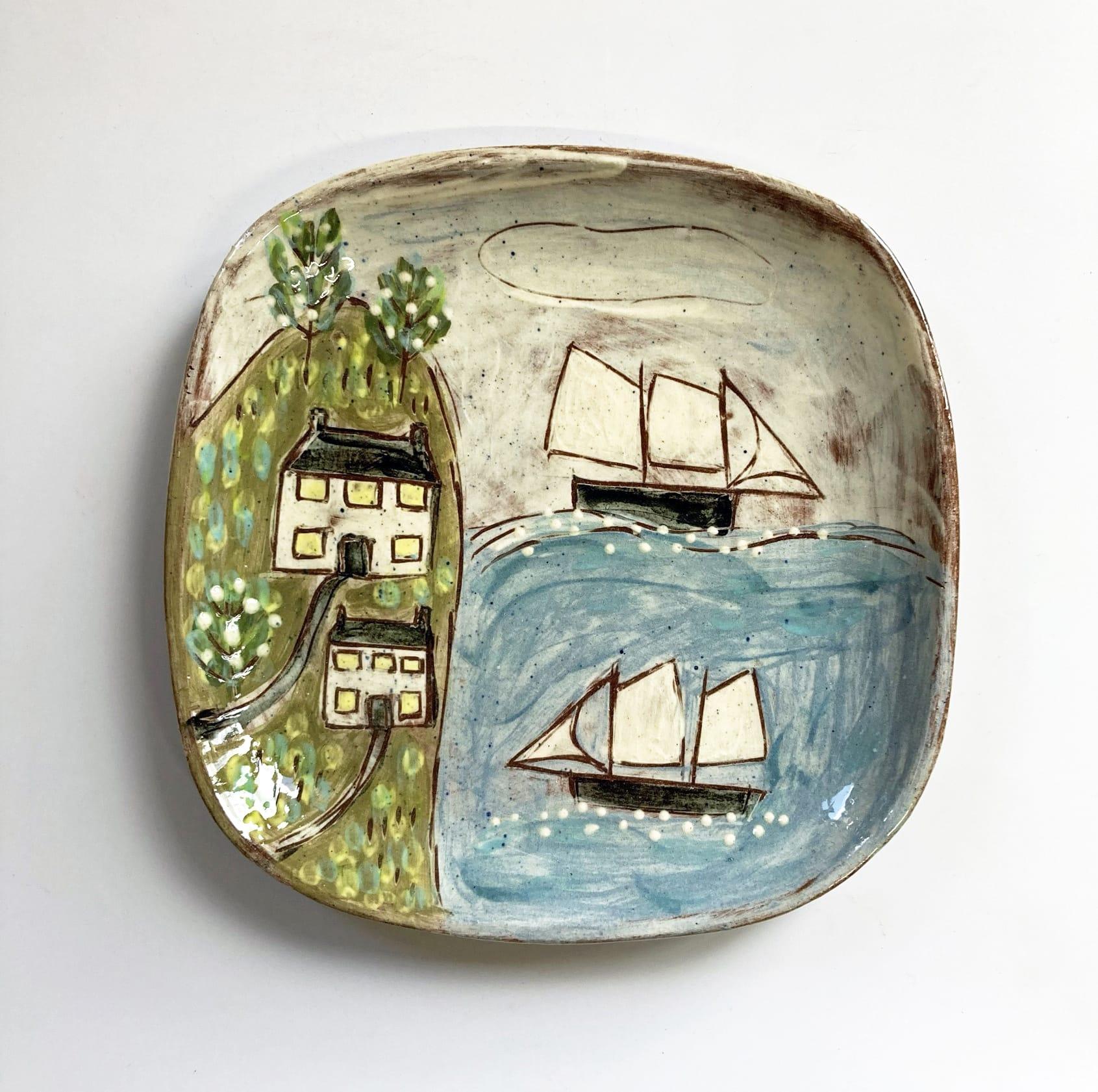 "<span class=""link fancybox-details-link""><a href=""/artists/428-anne-barrell/works/7742-anne-barrell-off-shore-commission-2021/"">View Detail Page</a></span><div class=""artist""><strong>Anne Barrell</strong></div> <div class=""title""><em>Off Shore Commission </em>, 2021</div> <div class=""medium"">handmade, handpainted ceramic</div> <div class=""dimensions"">16 x 16 cm</div><div class=""copyright_line"">Ownart: £6.60 x 10 Months, 0% APR</div>"