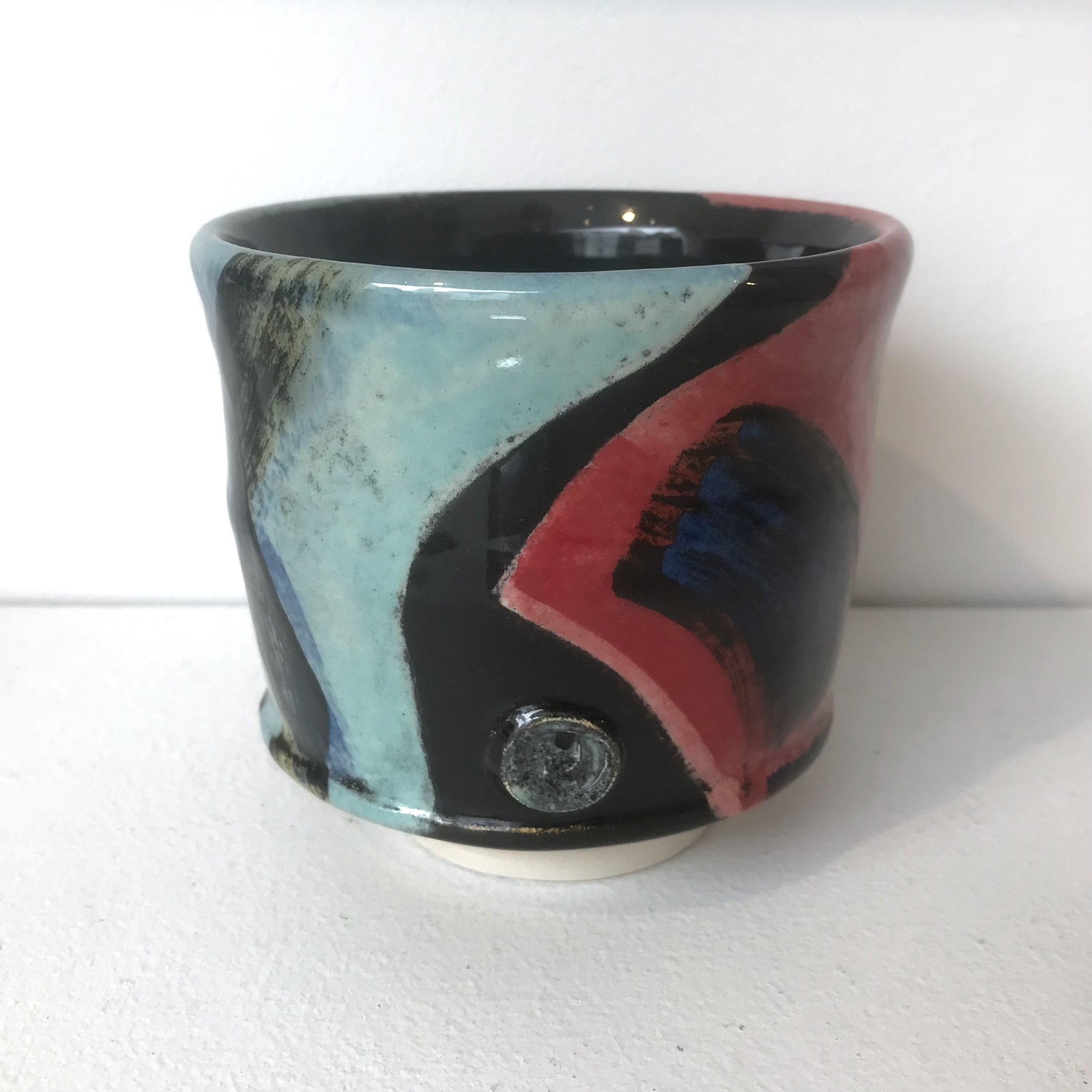 """<span class=""""link fancybox-details-link""""><a href=""""/artists/100-john-pollex/works/7846-john-pollex-tea-bowl-2021/"""">View Detail Page</a></span><div class=""""artist""""><strong>John Pollex</strong></div> <div class=""""title""""><em>Tea Bowl</em>, 2021</div> <div class=""""signed_and_dated"""">impressed with the artist's seal mark 'JP'</div> <div class=""""medium"""">white earthenware decorated with coloured slips</div> <div class=""""dimensions"""">height. 9 cm x diameter. 9.5 cm</div><div class=""""copyright_line"""">Own Art: £8.80 x 10 Months, 0% APR</div>"""