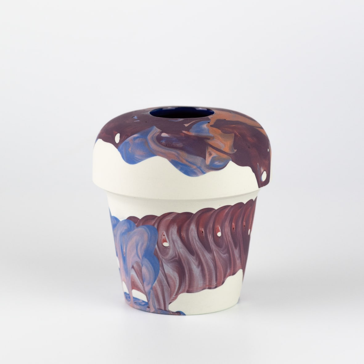 """<span class=""""link fancybox-details-link""""><a href=""""/artists/219-james-pegg/works/6573-james-pegg-kontohondros-vase-2019/"""">View Detail Page</a></span><div class=""""artist""""><strong>James Pegg</strong></div> <div class=""""title""""><em>Kontohondros Vase</em>, 2019</div> <div class=""""medium"""">action-cast stained porcelain with glazed interior</div><div class=""""price"""">£155.00</div><div class=""""copyright_line"""">OwnArt: £ 15.50 x 10 months, 0% APR</div>"""