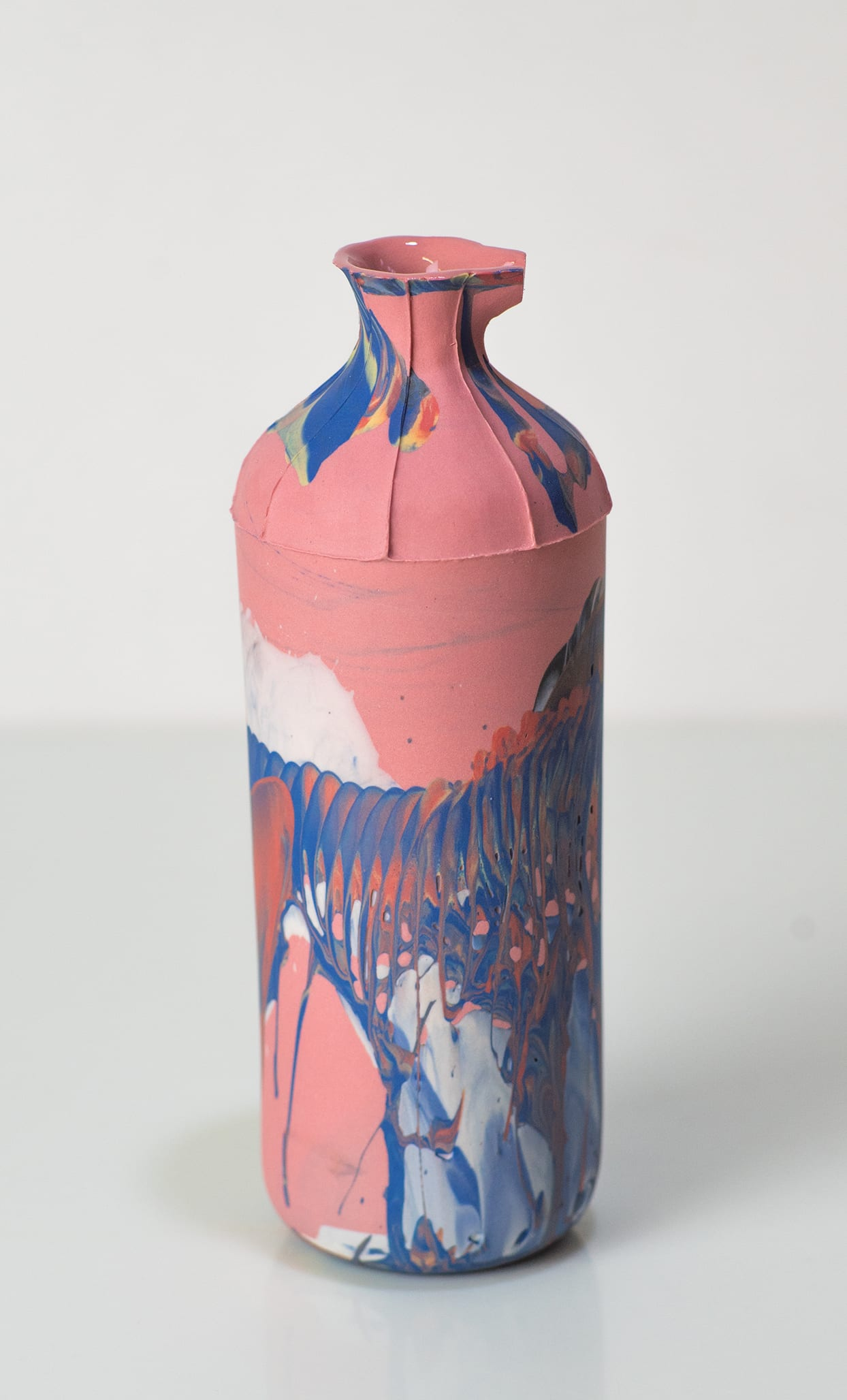 """<span class=""""link fancybox-details-link""""><a href=""""/artists/219-james-pegg/works/6079-james-pegg-tall-bottle-2019/"""">View Detail Page</a></span><div class=""""artist""""><strong>James Pegg</strong></div> <div class=""""title""""><em>Tall Bottle</em>, 2019</div> <div class=""""medium"""">action-cast stained porcelain with glazed interior</div> <div class=""""dimensions"""">h 17 cm</div><div class=""""price"""">£120.00</div><div class=""""copyright_line"""">OwnArt: £ 12 x 10 Months, 0% APR </div>"""