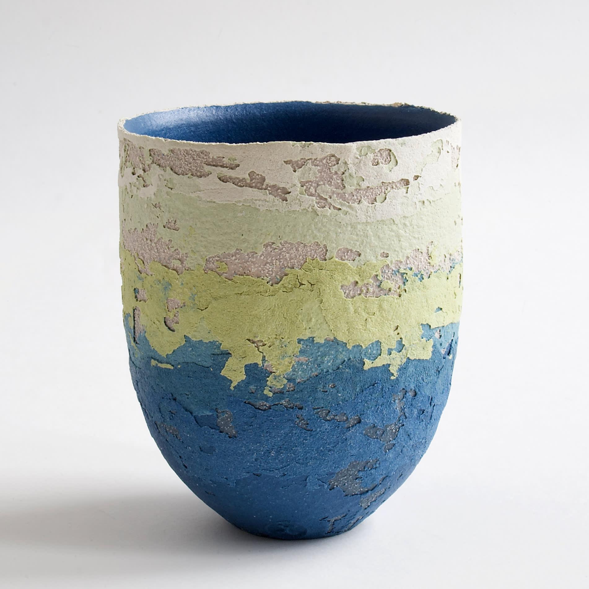 "<span class=""link fancybox-details-link""><a href=""/artists/79-clare-conrad/works/8126-clare-conrad-vessel-bright-blue-interior-2021/"">View Detail Page</a></span><div class=""artist""><strong>Clare Conrad</strong></div> b. 1948 <div class=""title""><em>Vessel, bright blue interior</em>, 2021</div> <div class=""medium"">wheel-thrown stoneware </div> <div class=""dimensions"">h. 12 cm </div><div class=""price"">£132.00</div><div class=""copyright_line"">Own Art: £13.20 x 10 Months, 0% APR</div>"