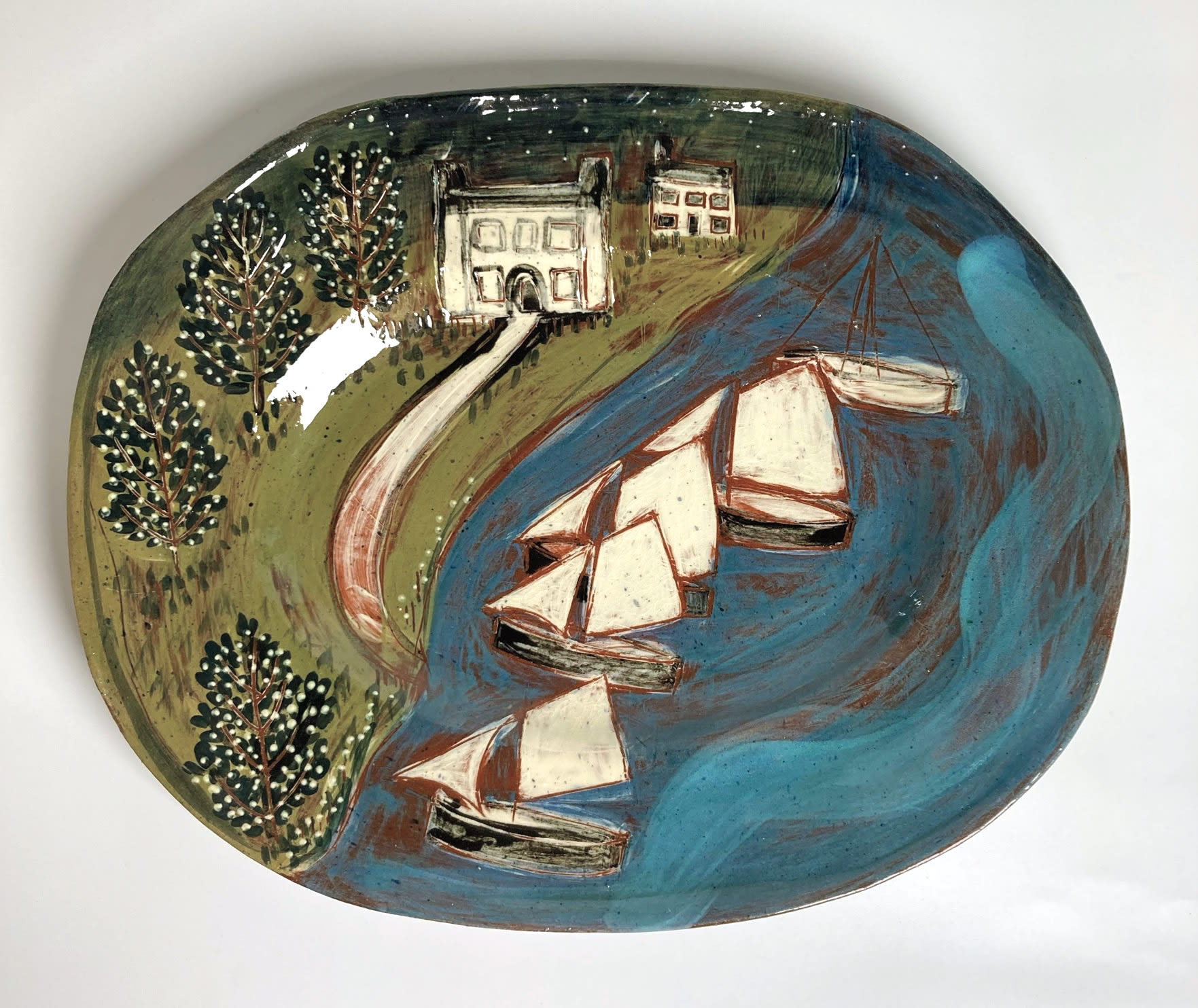 "<span class=""link fancybox-details-link""><a href=""/artists/428-anne-barrell/works/7688-anne-barrell-by-the-shore-2021/"">View Detail Page</a></span><div class=""artist""><strong>Anne Barrell</strong></div> <div class=""title""><em>By the Shore</em>, 2021</div> <div class=""medium"">handmade, hand-painted ceramic </div> <div class=""dimensions"">h. 26 x w. 32 cm </div><div class=""copyright_line"">Own Art: £15 x 10 Months, 0% APR</div>"