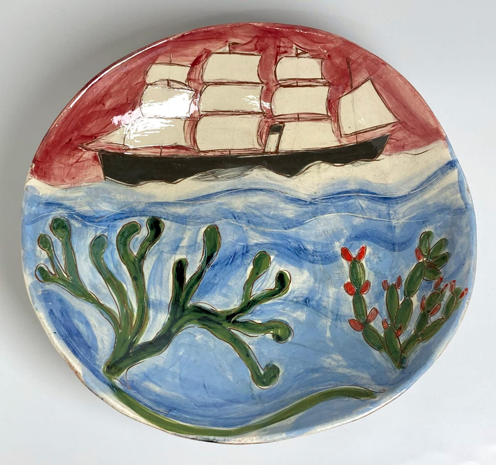 "<span class=""link fancybox-details-link""><a href=""/artists/428-anne-barrell/works/7694-anne-barrell-oceanic-2021/"">View Detail Page</a></span><div class=""artist""><strong>Anne Barrell</strong></div> <div class=""title""><em>Oceanic</em>, 2021</div> <div class=""medium"">handmade, hand-painted ceramic </div> <div class=""dimensions"">h. 33 x w. 32 cm </div><div class=""copyright_line"">Own Art: £29 x 10 Months, 0% APR</div>"