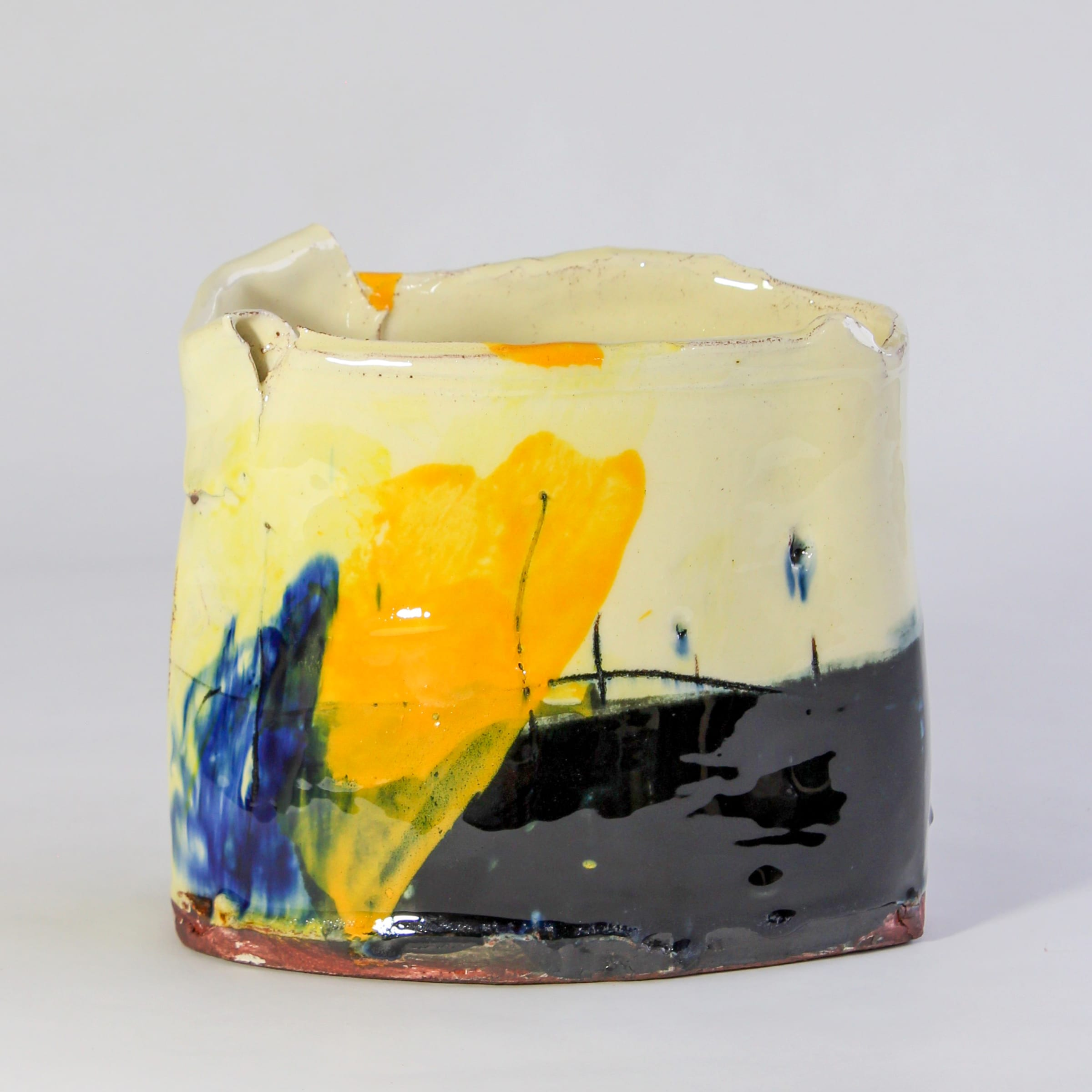 """<span class=""""link fancybox-details-link""""><a href=""""/artists/34-barry-stedman/works/7819-barry-stedman-thrown-altered-vessel-2021/"""">View Detail Page</a></span><div class=""""artist""""><strong>Barry Stedman</strong></div> <div class=""""title""""><em>Thrown altered Vessel </em>, 2021</div> <div class=""""medium"""">thrown and altered earthenware, decorated with slips</div> <div class=""""dimensions"""">14 x 15 x 10 cm</div><div class=""""price"""">£231.00</div><div class=""""copyright_line"""">Own Art: £23.10 x 10 Months, 0% APR</div>"""