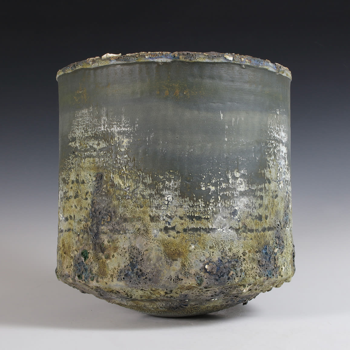 """<span class=""""link fancybox-details-link""""><a href=""""/content/feature/40/artworks7991/"""">View Detail Page</a></span><div class=""""signed_and_dated"""">impressed seal mark 'PW'</div> <div class=""""medium"""">stoneware, multiple slips and glazes</div> <div class=""""dimensions"""">21.5 x 21 cm</div>"""